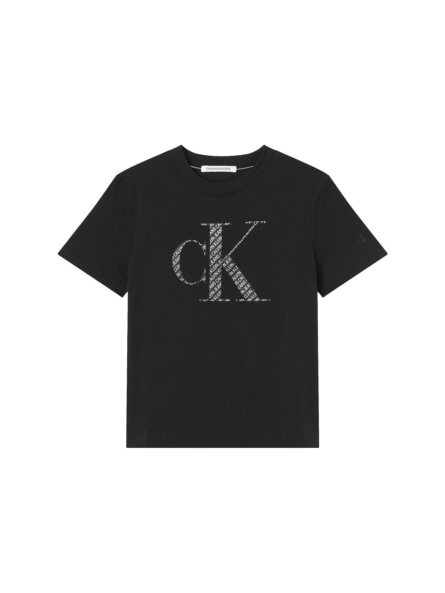 Calvin Klein Jeans Curve Marškinėliai juoda / balta