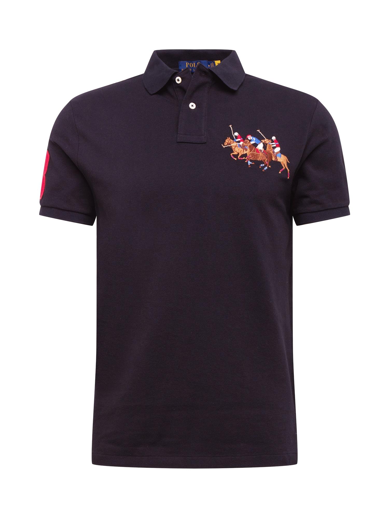 POLO RALPH LAUREN Marškinėliai juoda / mišrios spalvos