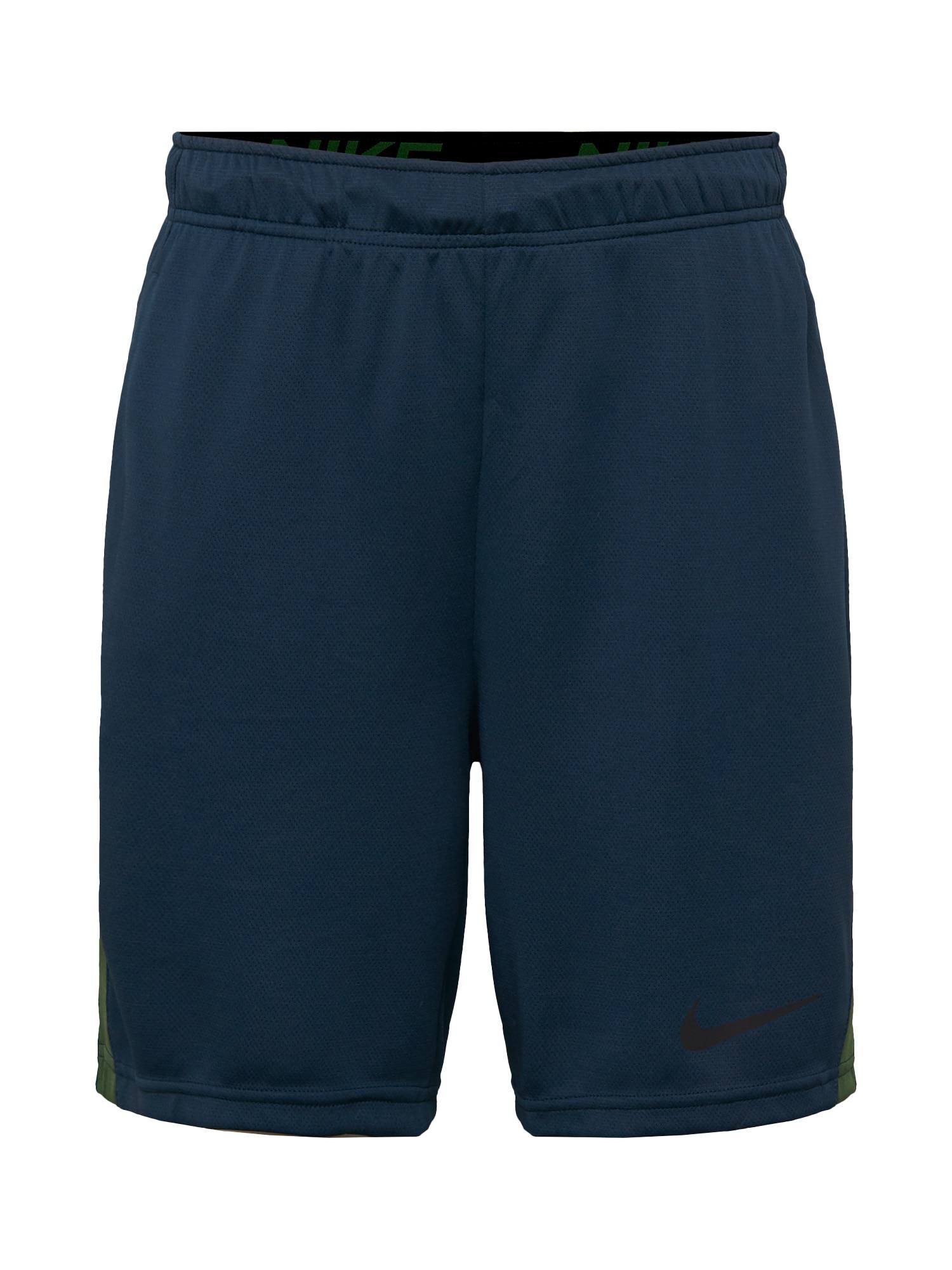 NIKE Sportovní kalhoty  olivová / tmavě modrá