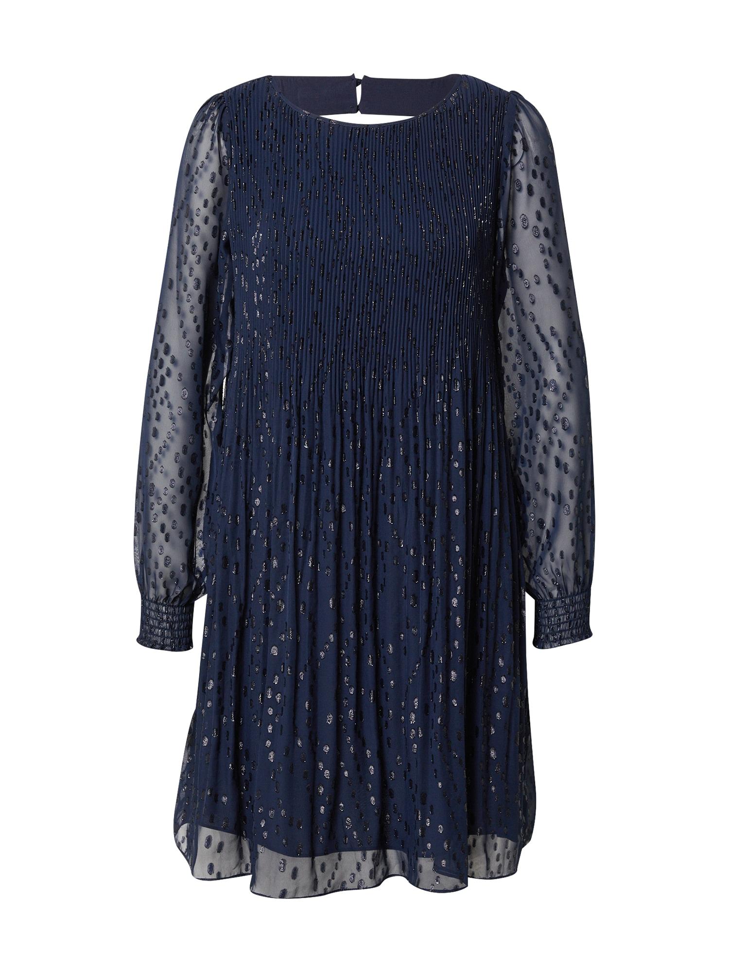 Maison 123 Kokteilinė suknelė tamsiai mėlyna jūros spalva