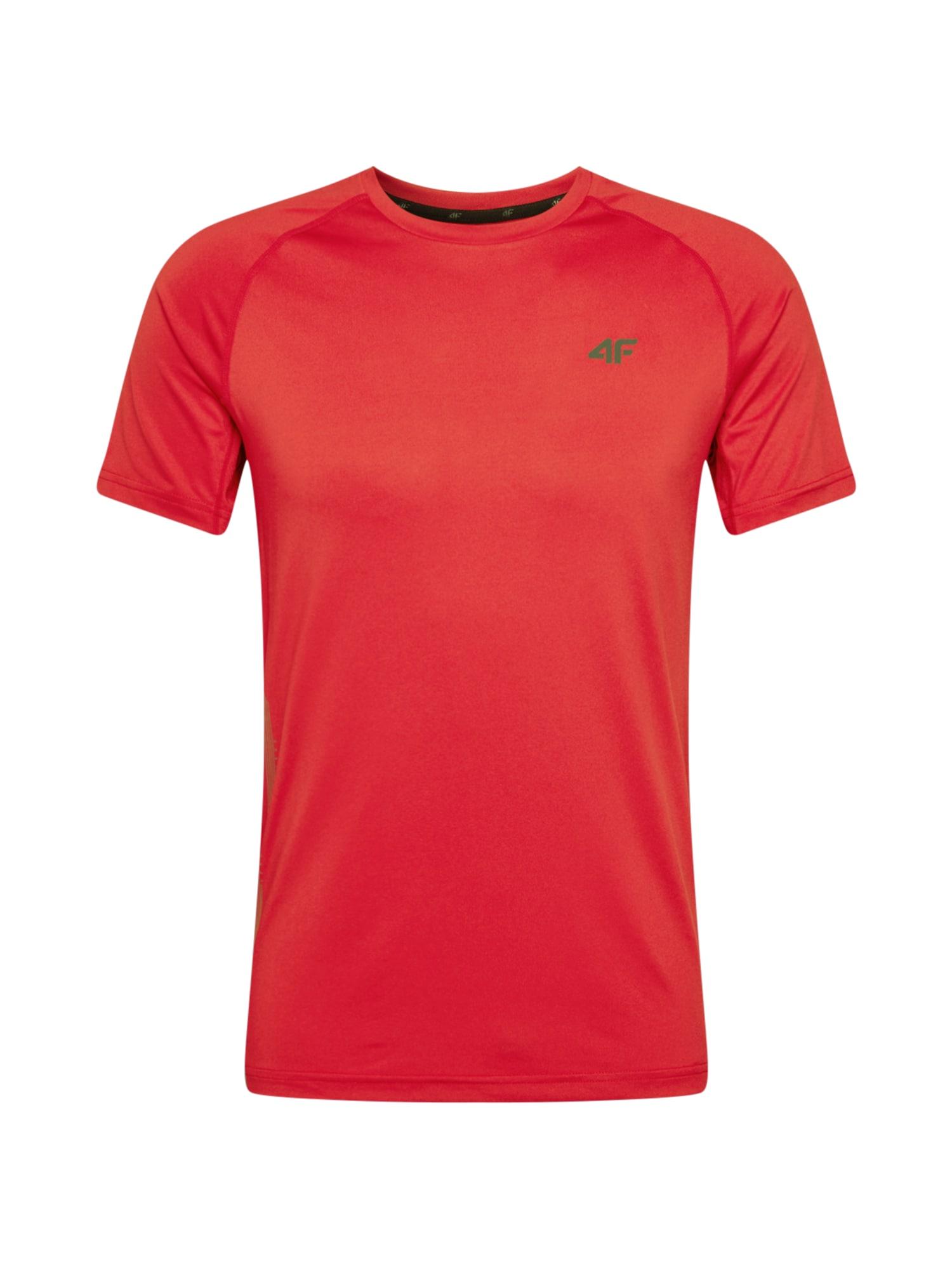 4F Sportiniai marškinėliai oranžinė-raudona / juoda