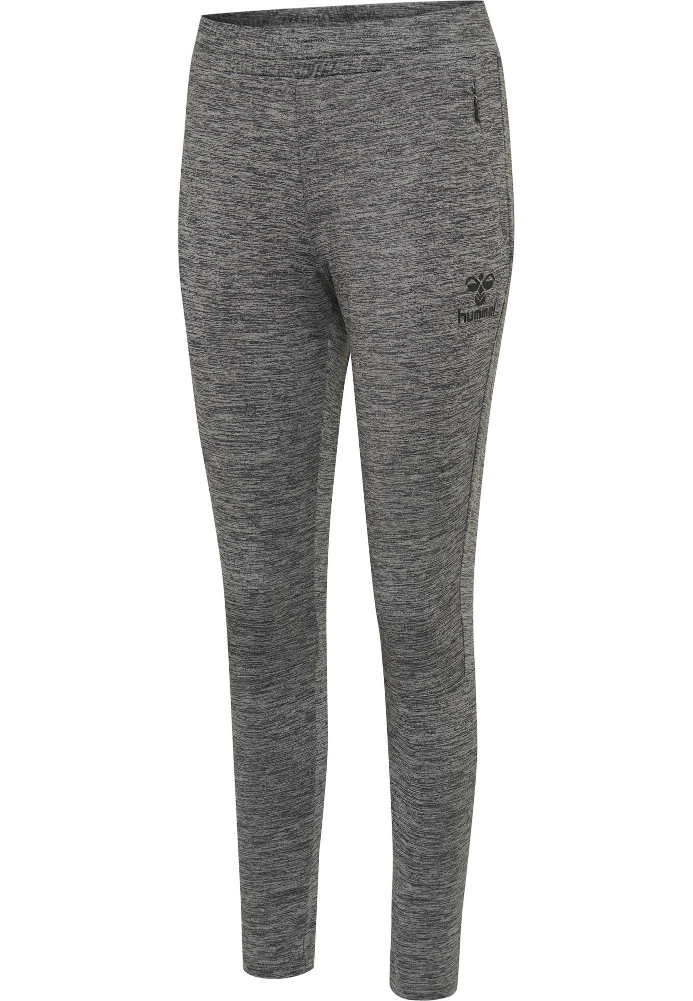 Hummel Sportovní kalhoty 'SELBY'  šedý melír / černá