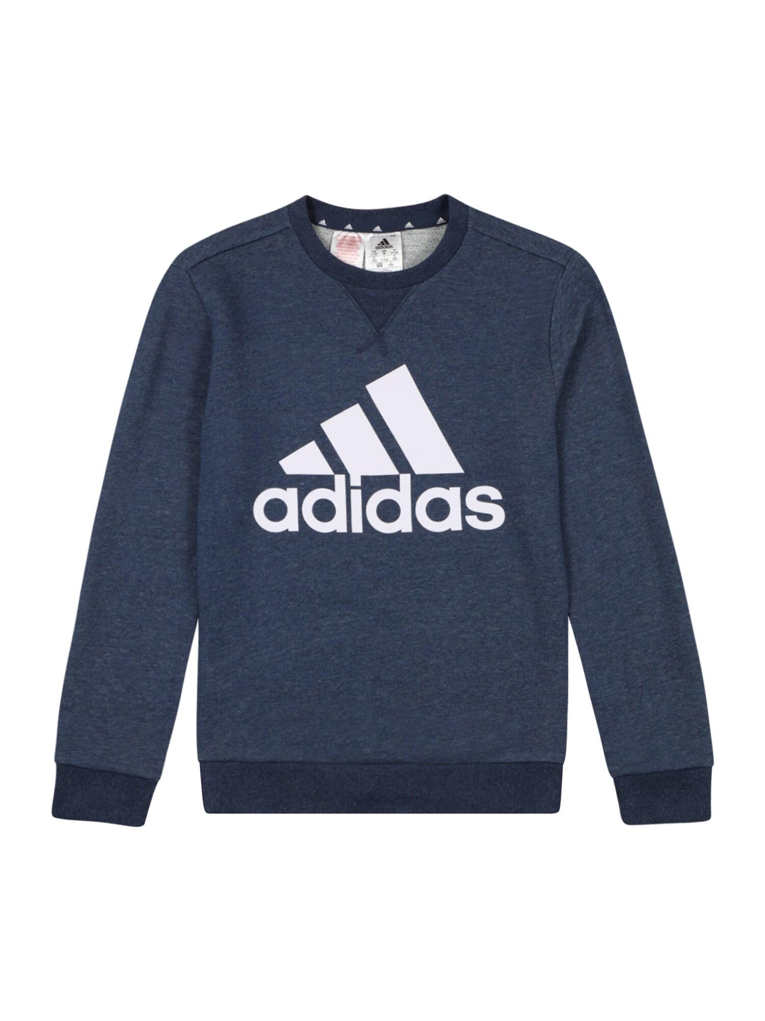 ADIDAS PERFORMANCE Sportinio tipo megztinis tamsiai mėlyna jūros spalva / balta