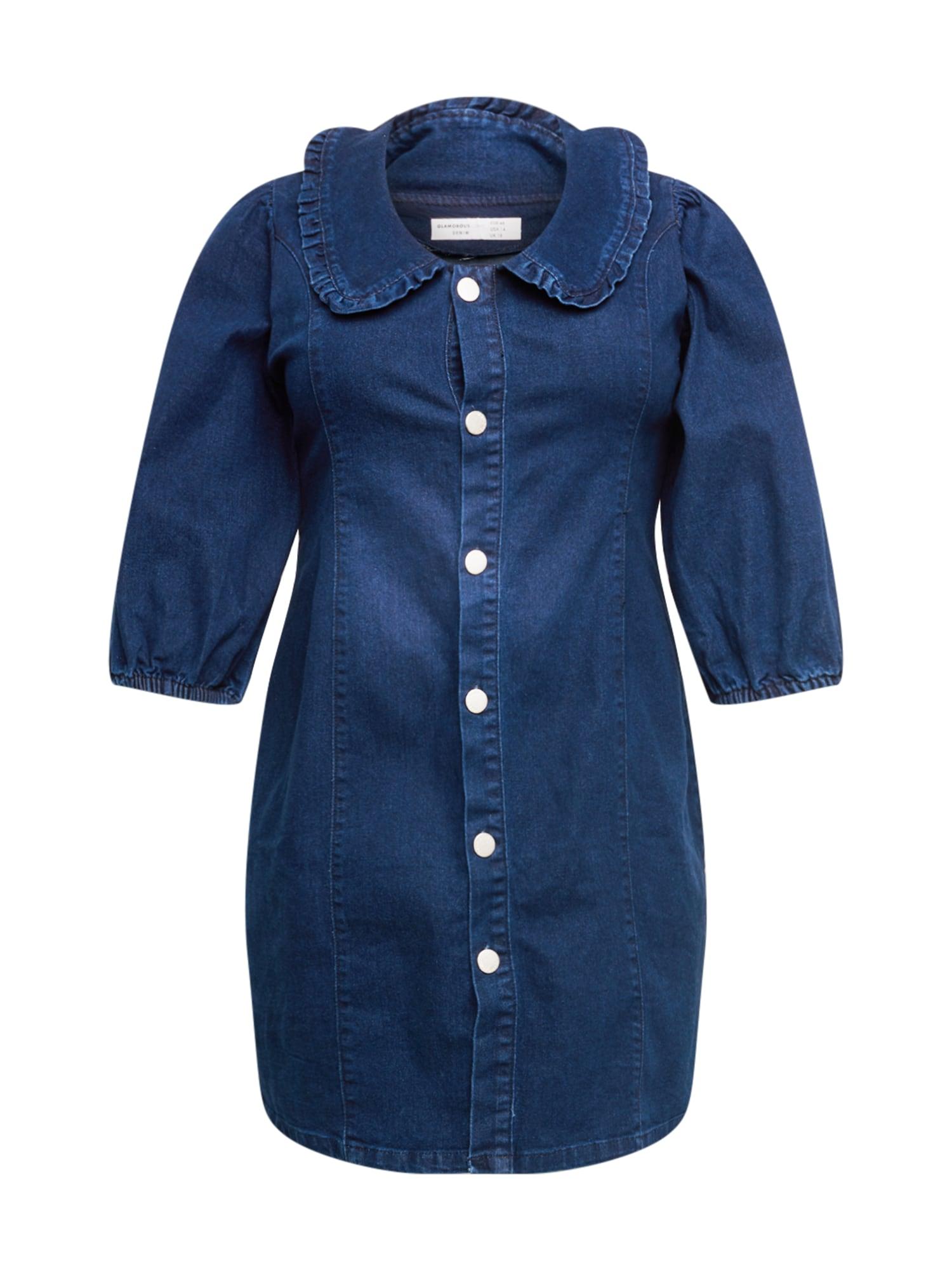 GLAMOROUS CURVE Palaidinės tipo suknelė tamsiai (džinso) mėlyna