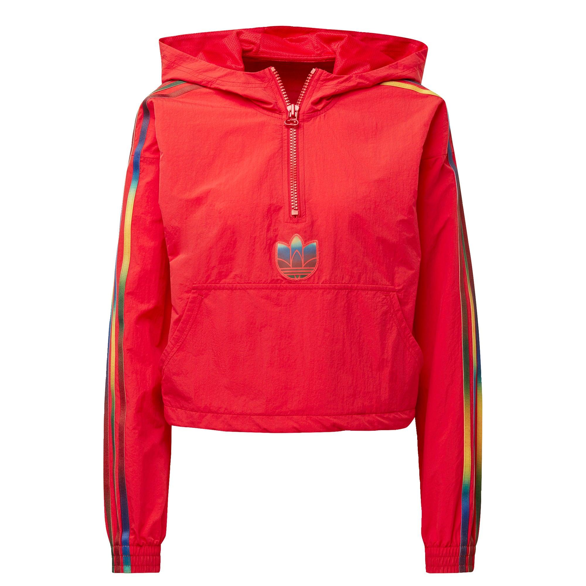 ADIDAS ORIGINALS Megztinis be užsegimo raudona / geltona / tamsiai mėlyna