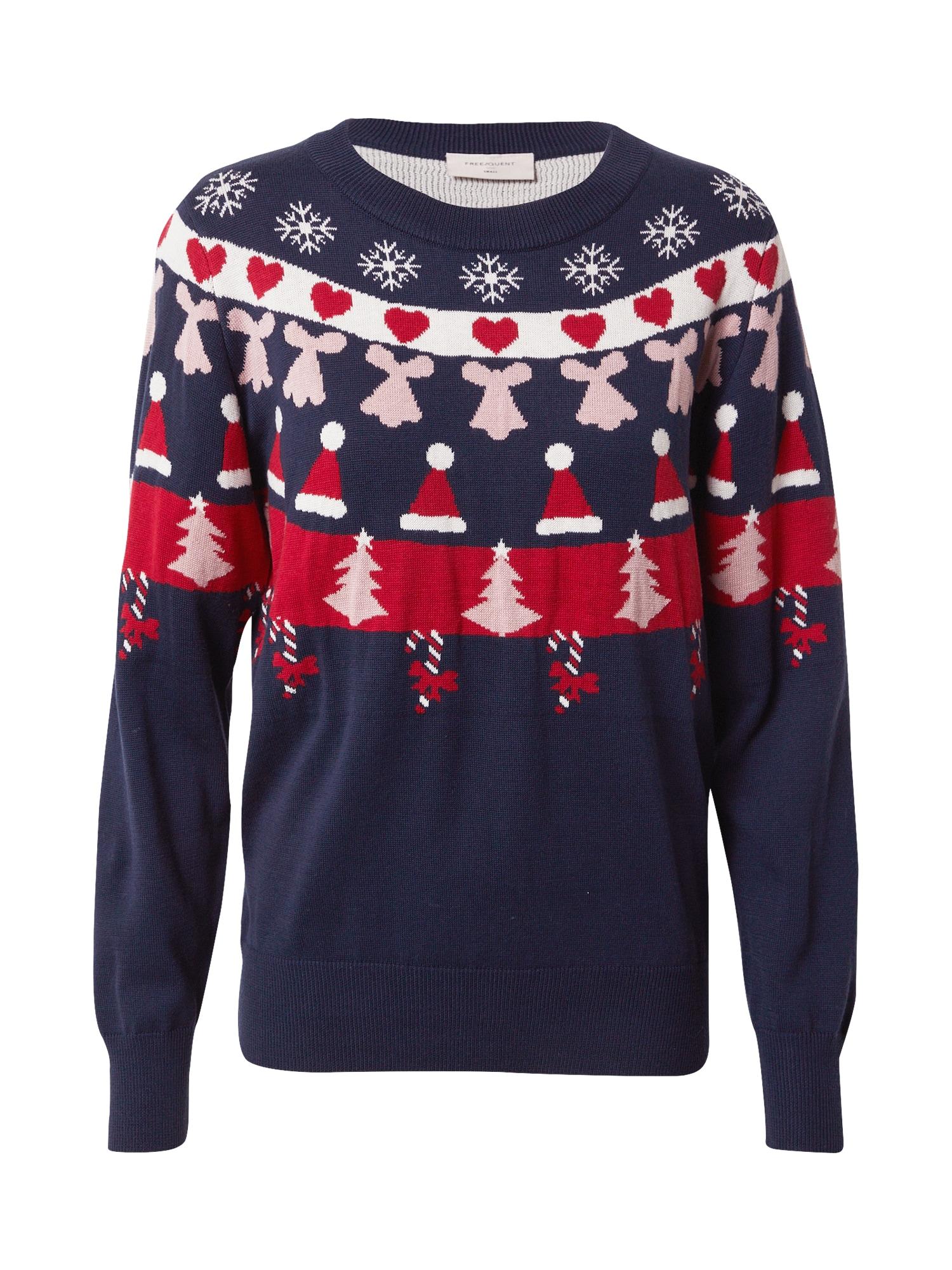 Freequent Megztinis tamsiai mėlyna / mišrios spalvos