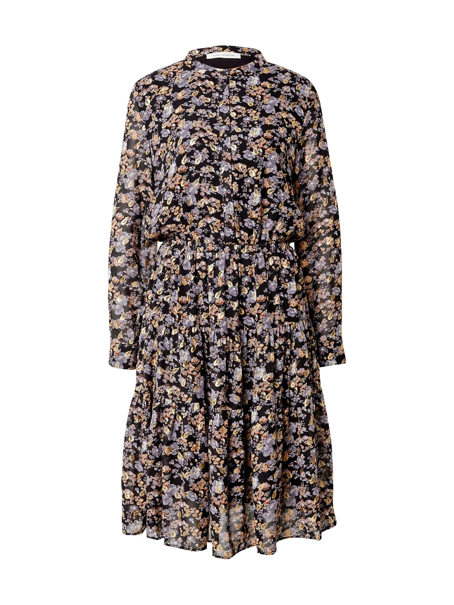 Sofie Schnoor Palaidinės tipo suknelė juoda / levandų spalva / oranžinė / smėlio