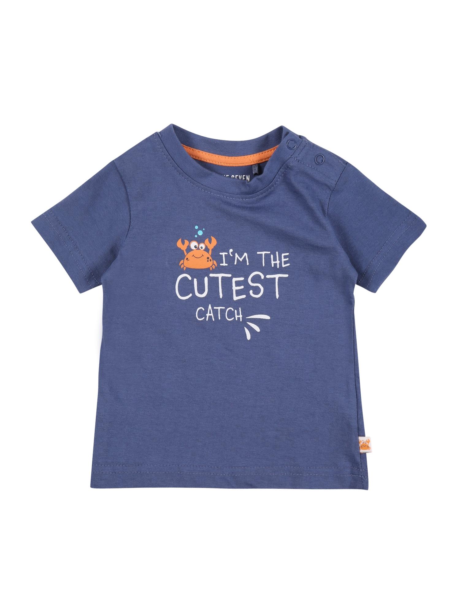 BLUE SEVEN Marškinėliai melsvai pilka / balta / oranžinė