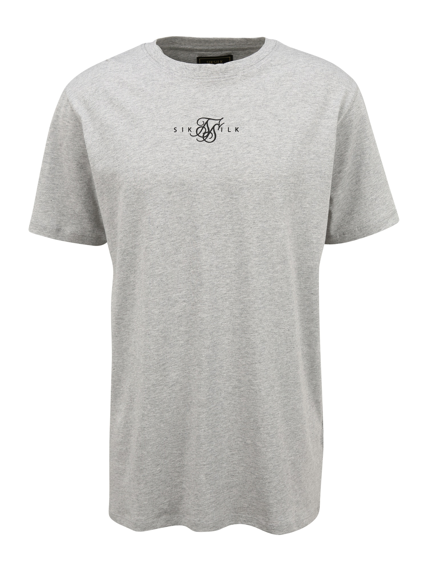 SikSilk Marškinėliai margai pilka / juoda