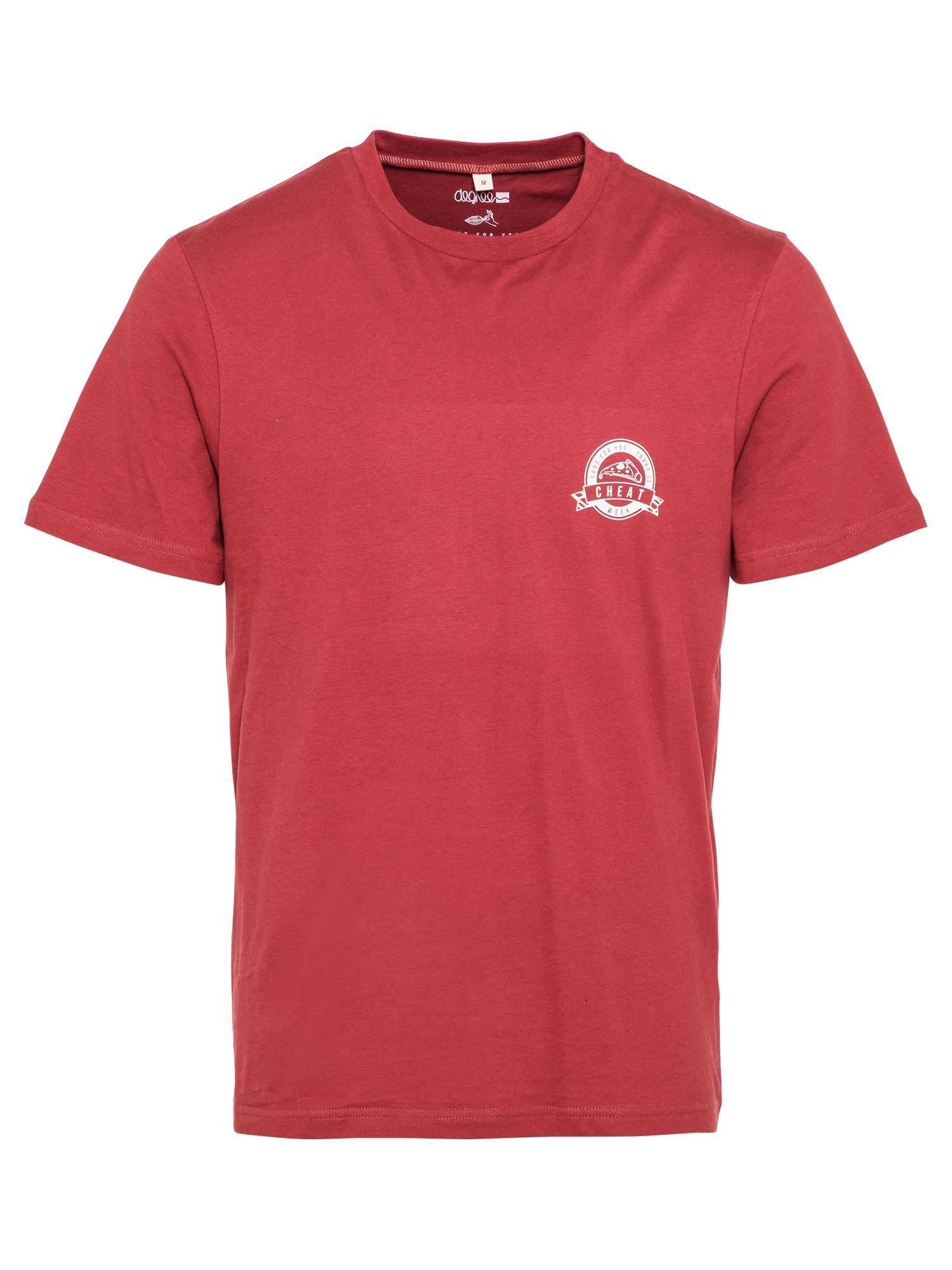 Degree Marškinėliai raudona / balta