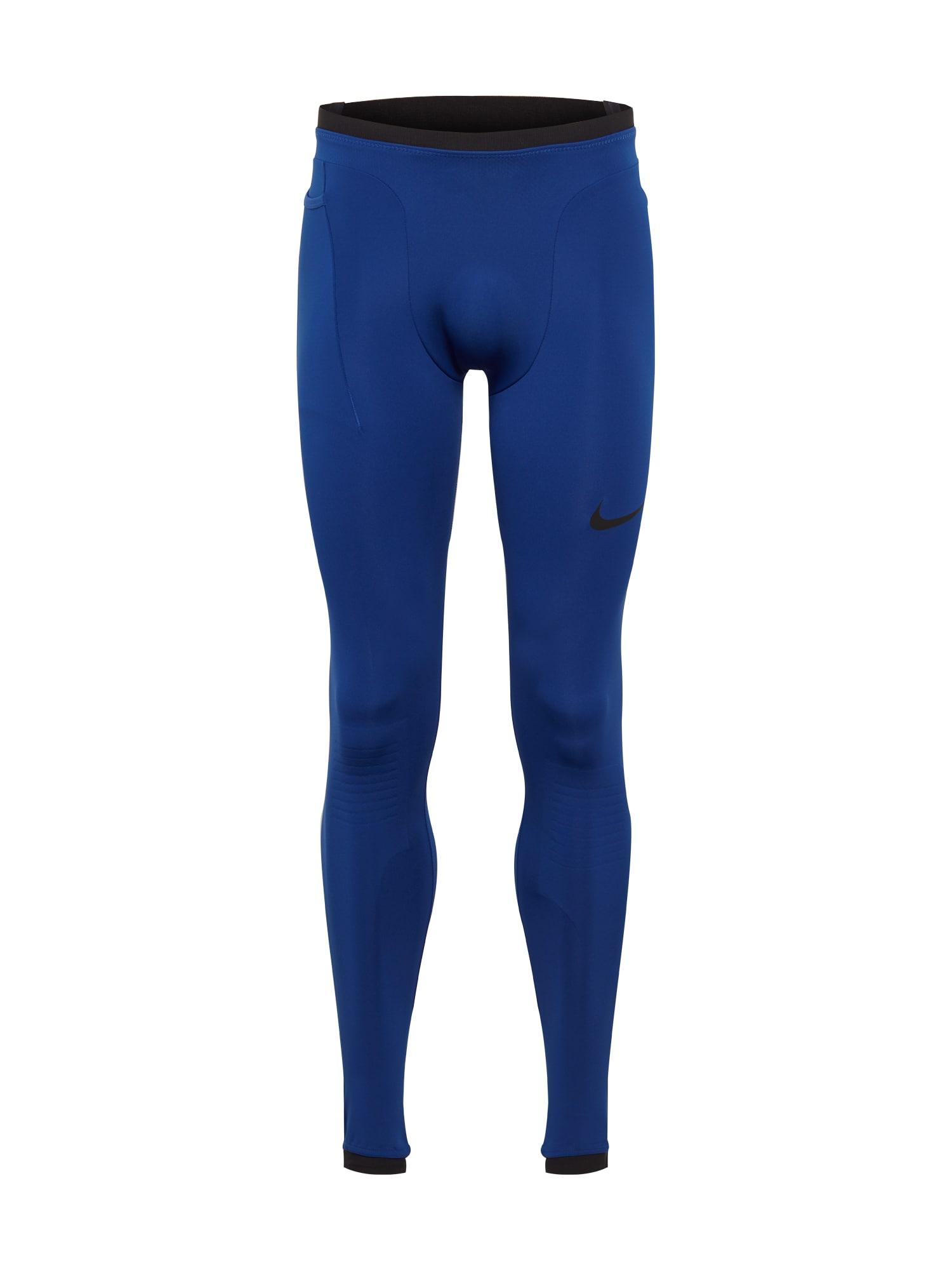 NIKE Sportinės kelnės juoda / tamsiai mėlyna