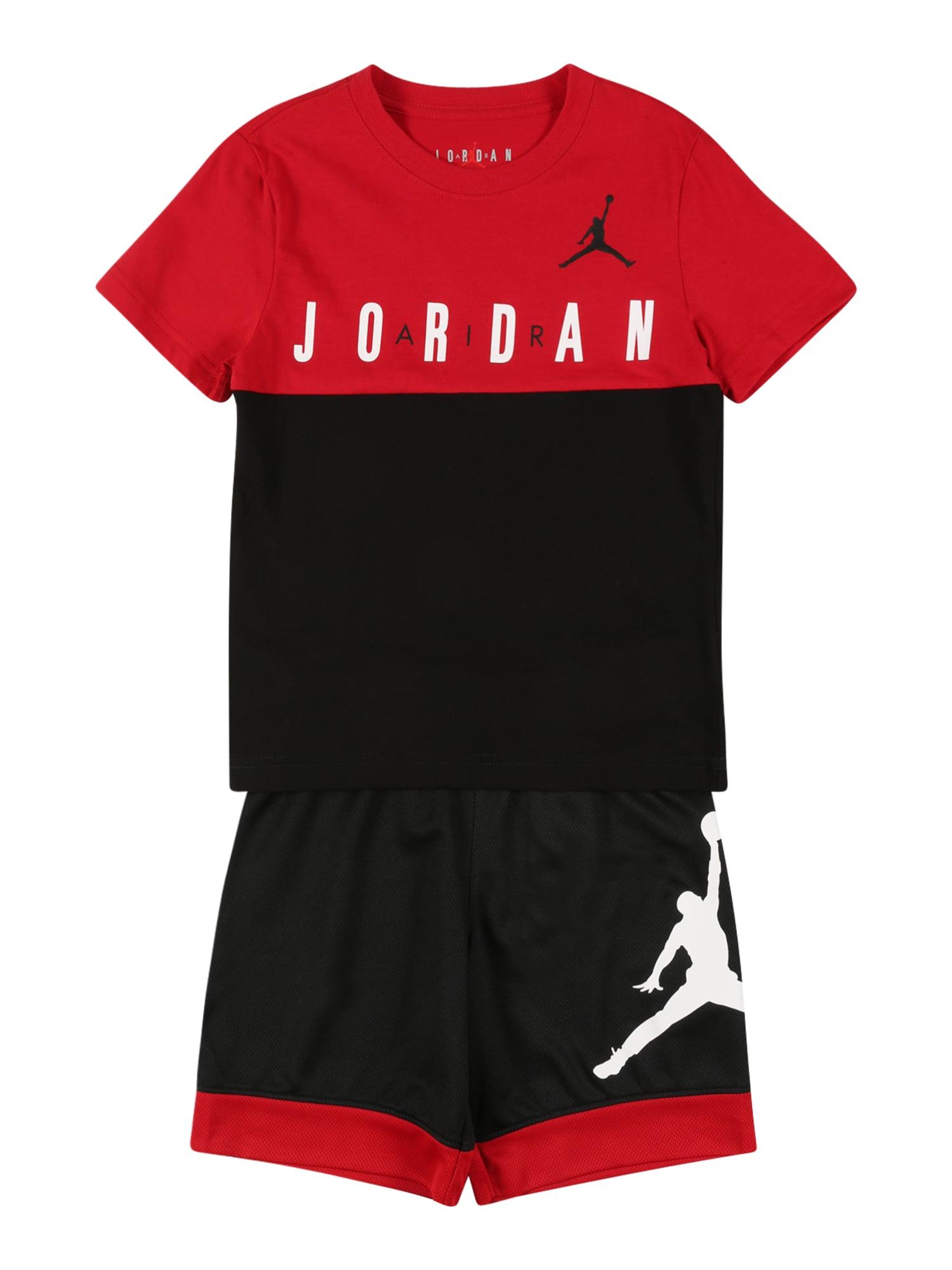 Jordan Treniruočių kostiumas juoda / balta / raudona