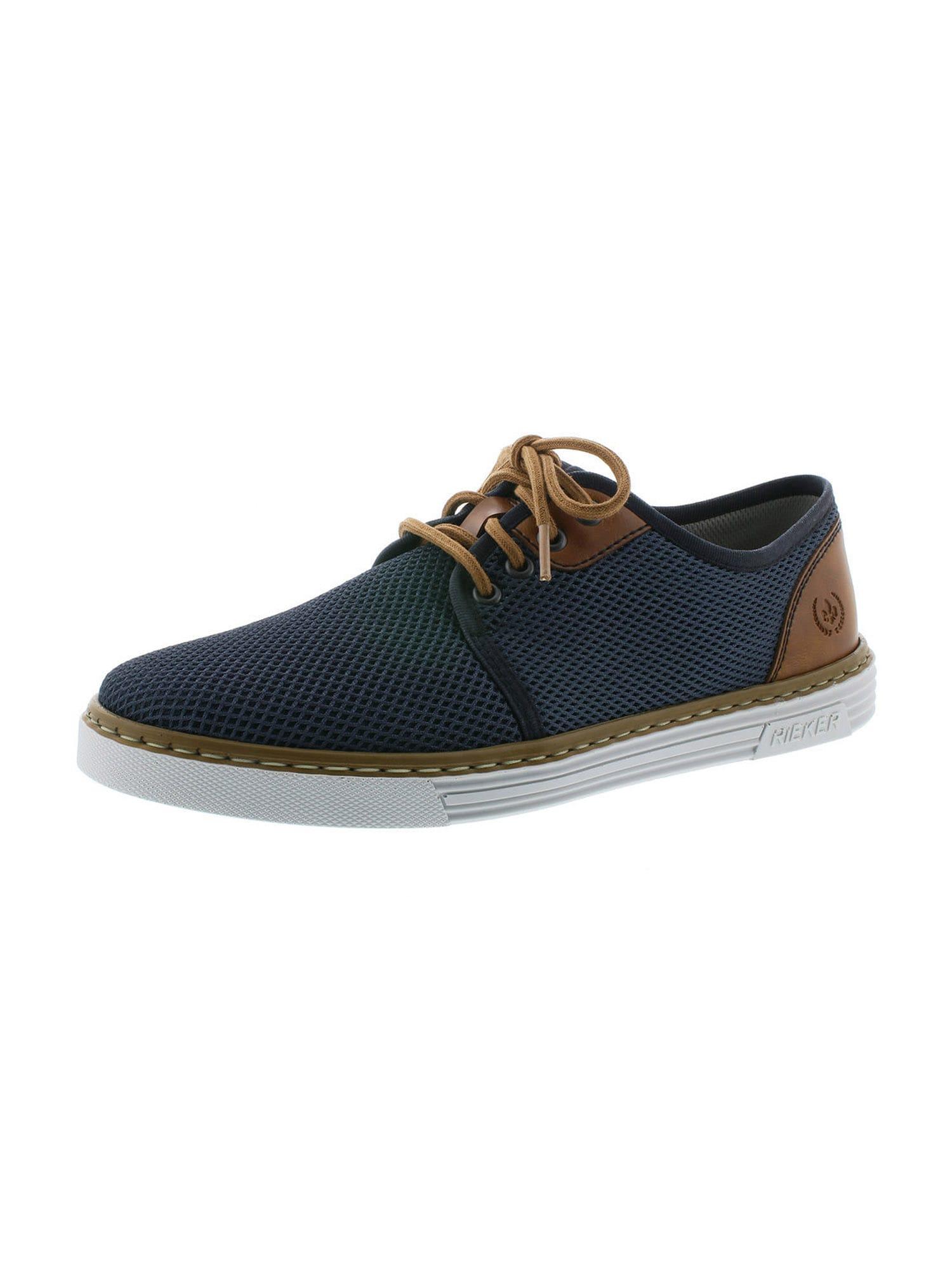 RIEKER Sportovní šněrovací boty  hnědá / tmavě modrá