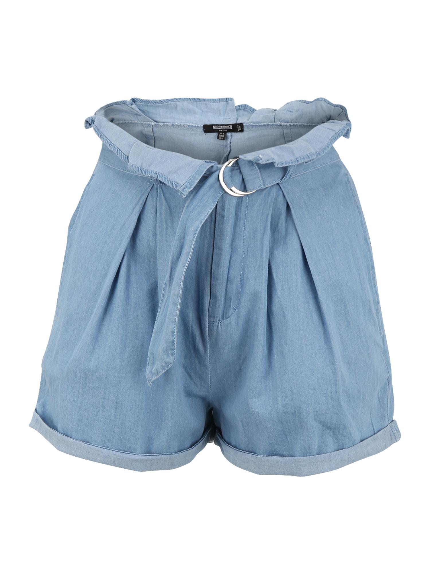 Missguided Petite Klostuotos kelnės tamsiai (džinso) mėlyna