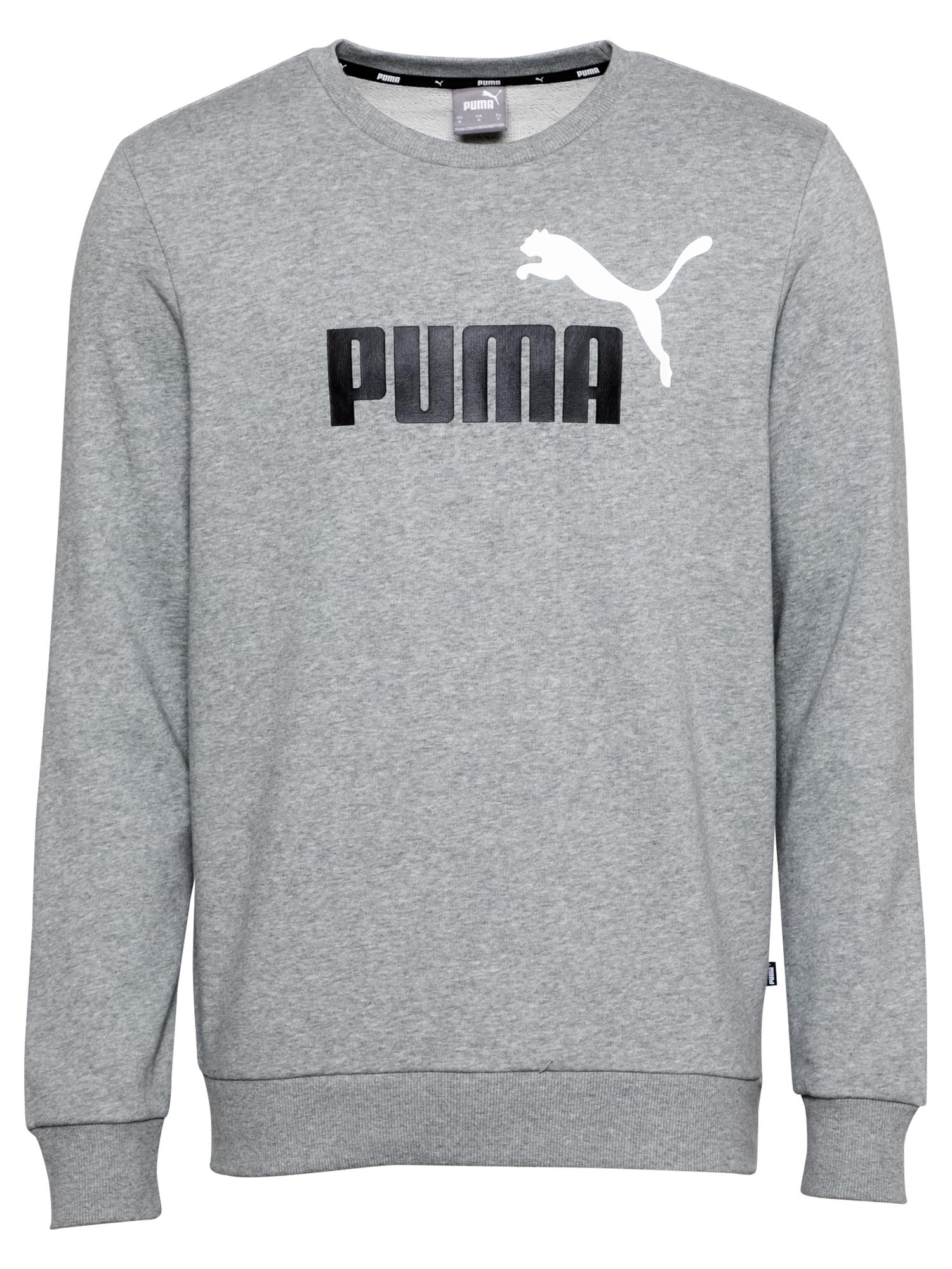PUMA Sportinio tipo megztinis margai pilka / juoda