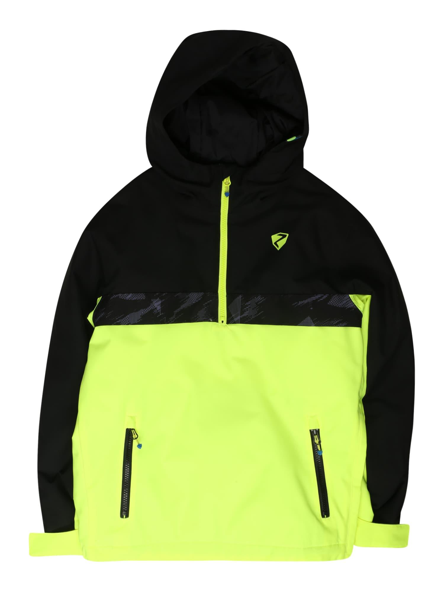 ZIENER Sportovní bunda 'ABSALOM'  černá / žlutá