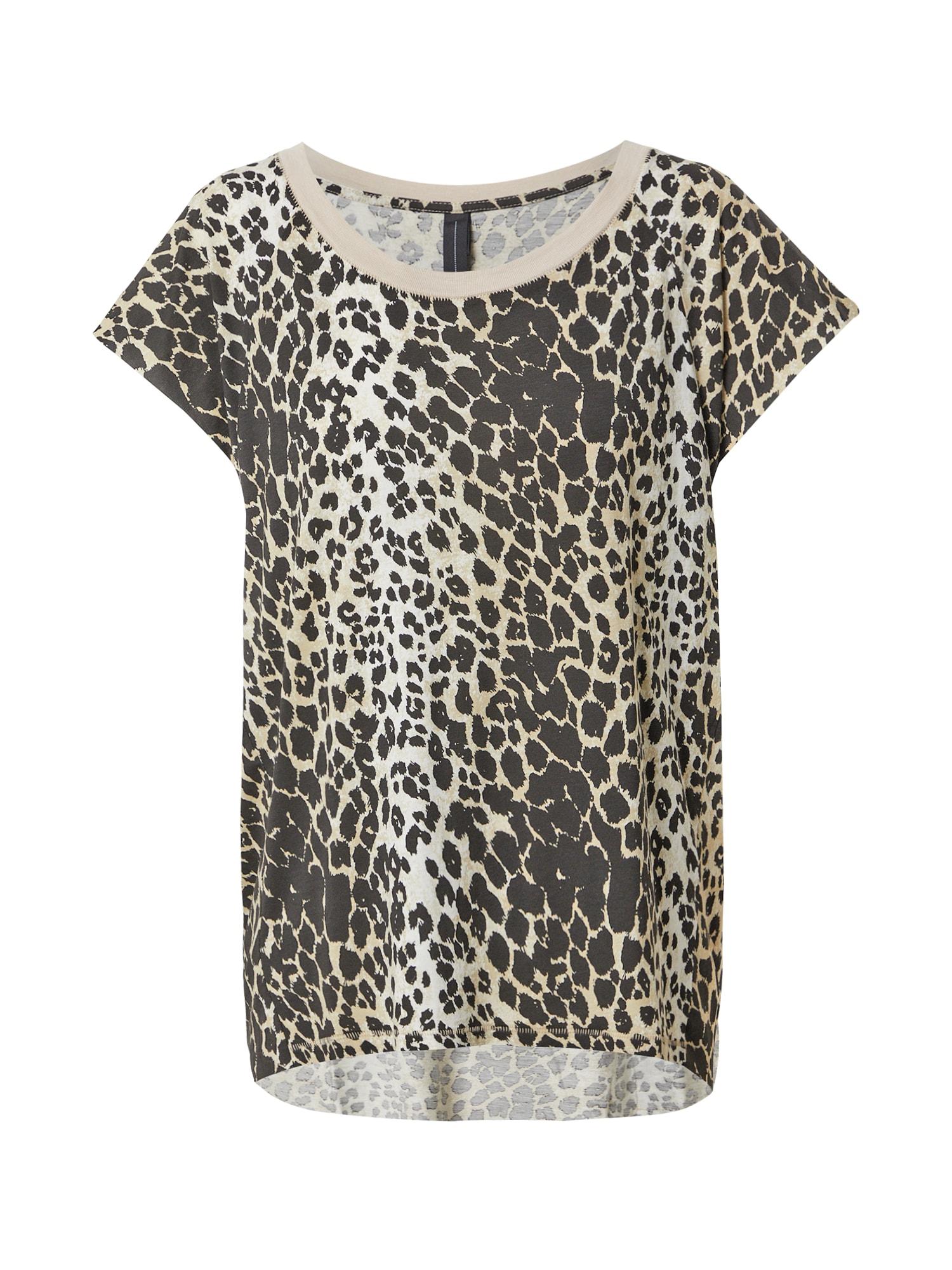 10Days Marškinėliai antracito spalva / smėlio spalva / balta