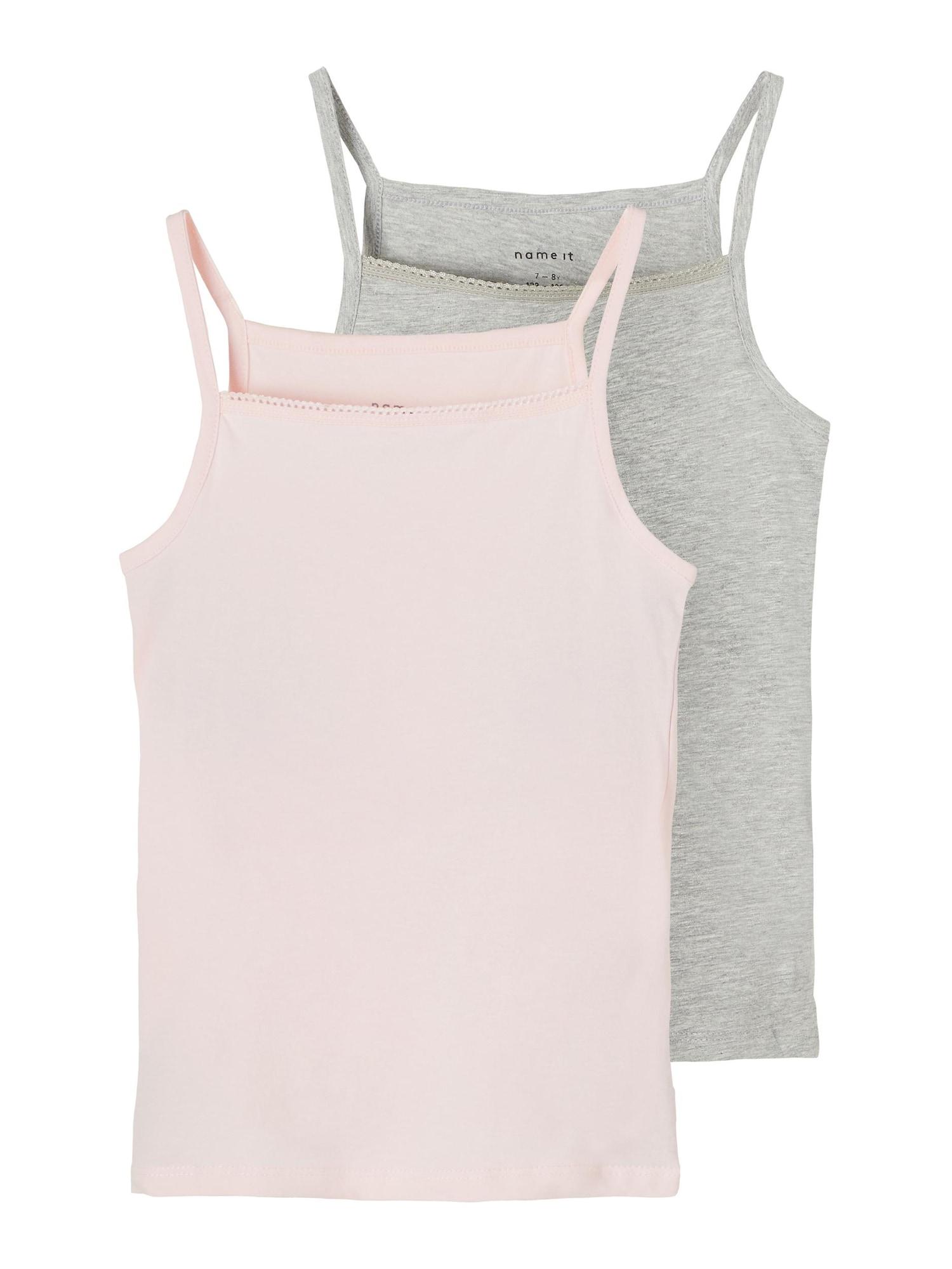 NAME IT Apatiniai marškinėliai rožinė / pilka