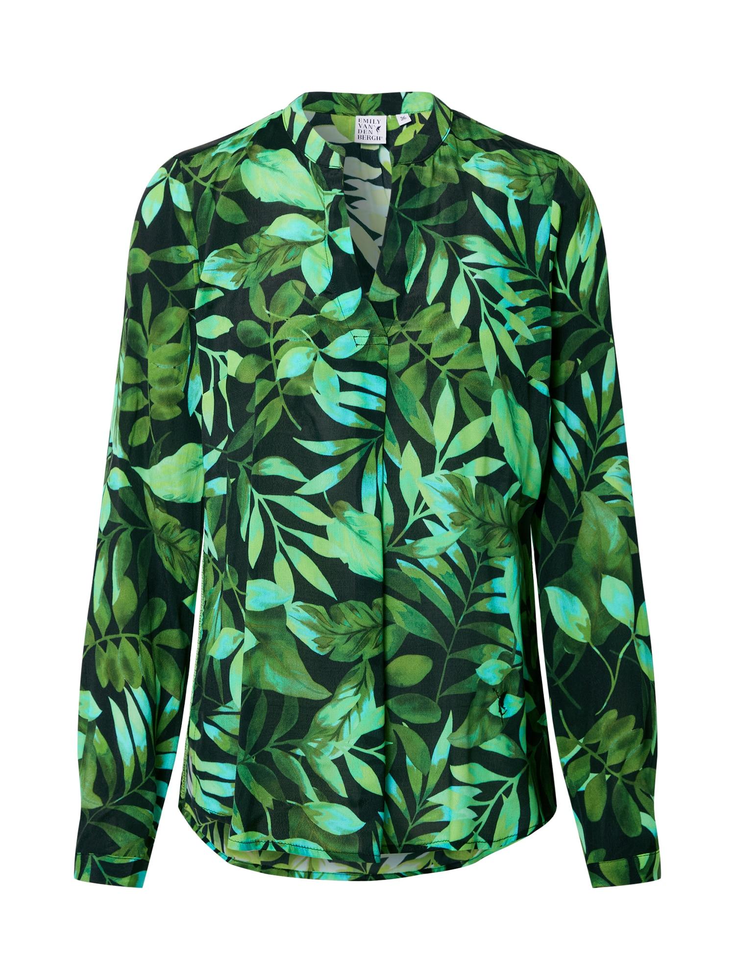 Emily Van Den Bergh Palaidinė žalia / nefrito spalva / juoda