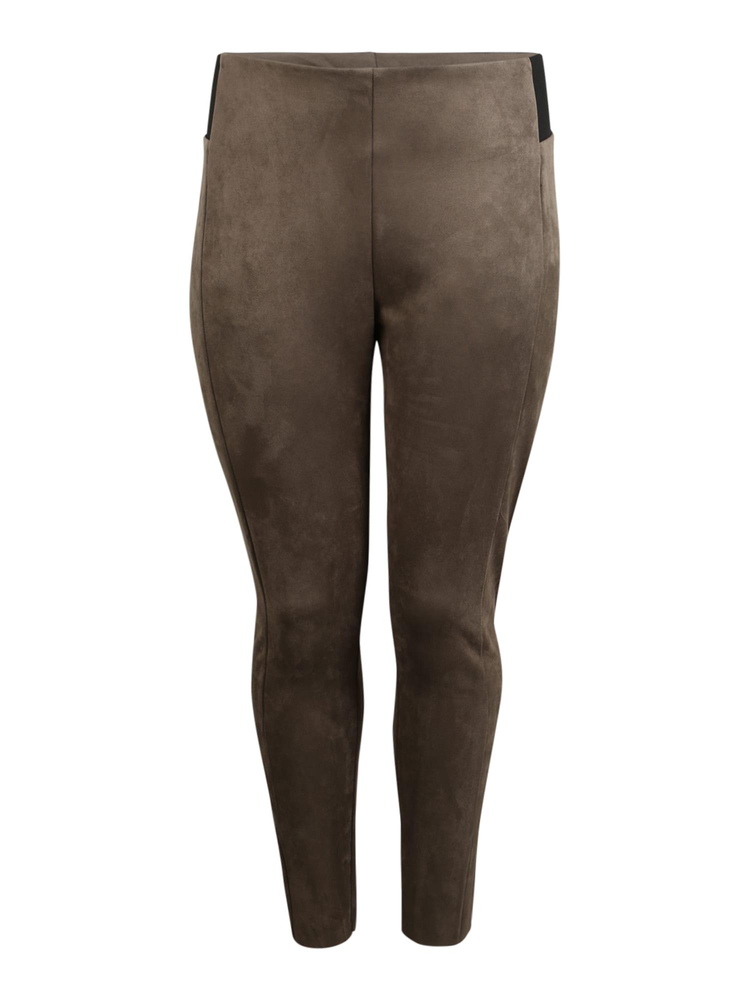 Vero Moda Curve Legíny 'Cava'  černá / hnědá