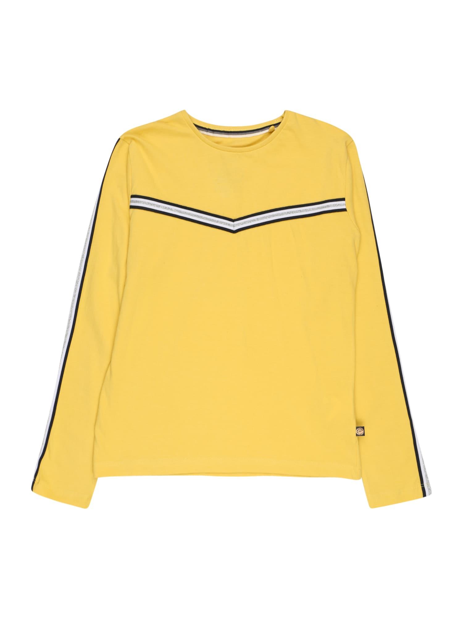 LEMON BERET Marškinėliai geltona / juoda / balta / sidabrinė