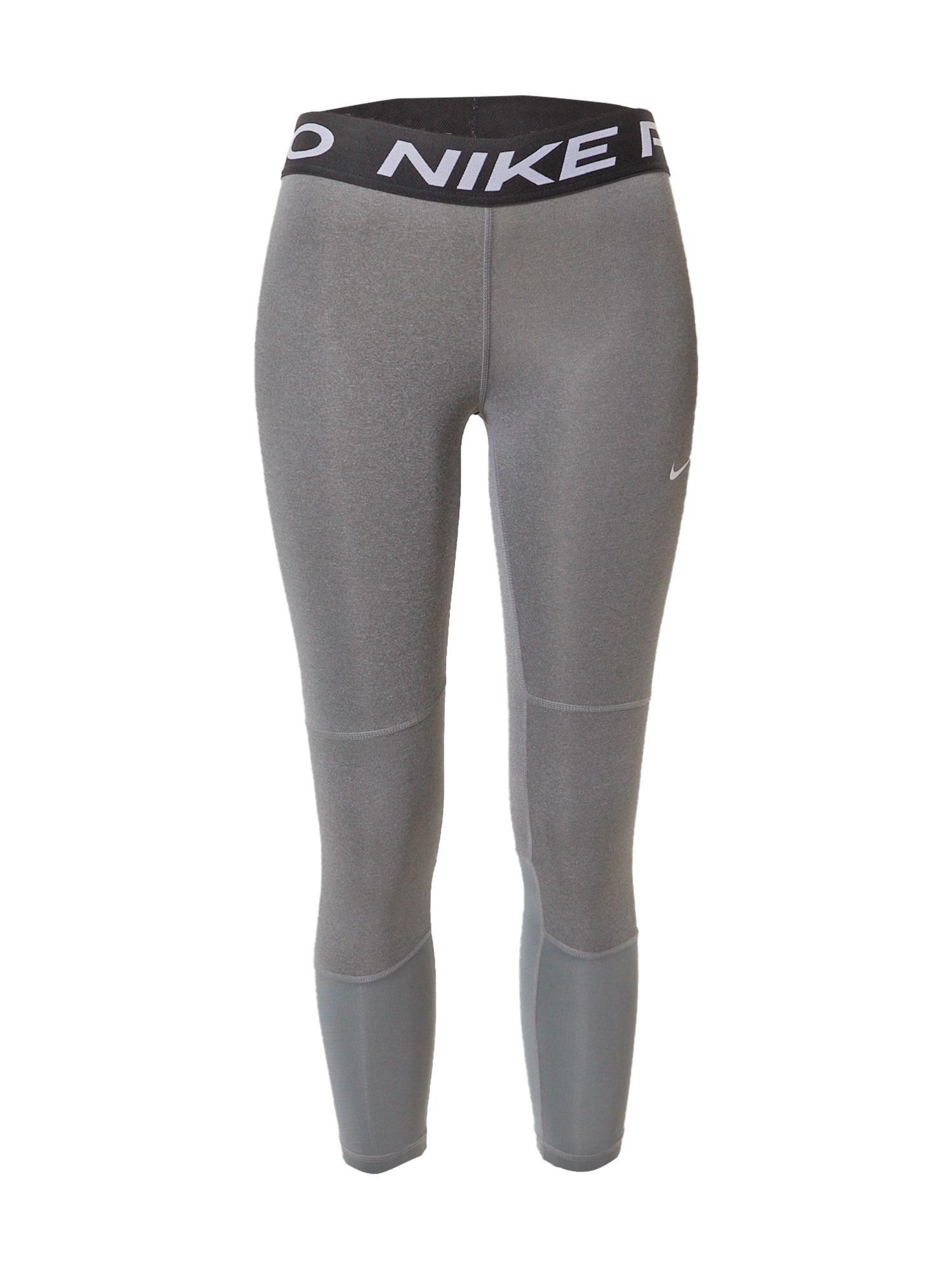 NIKE Sportinės kelnės šviesiai pilka / juoda