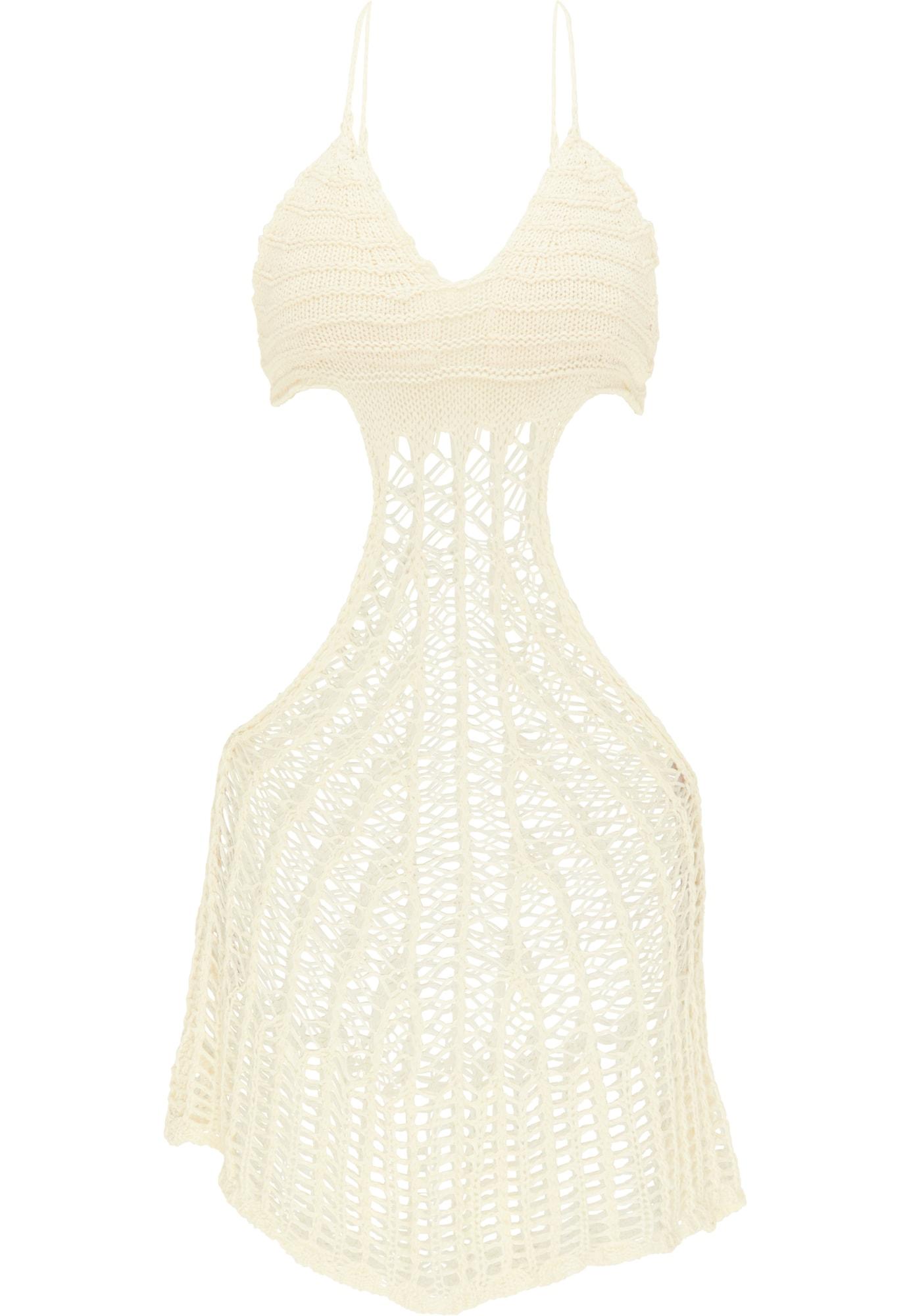 MYMO Paplūdimio suknelė balta