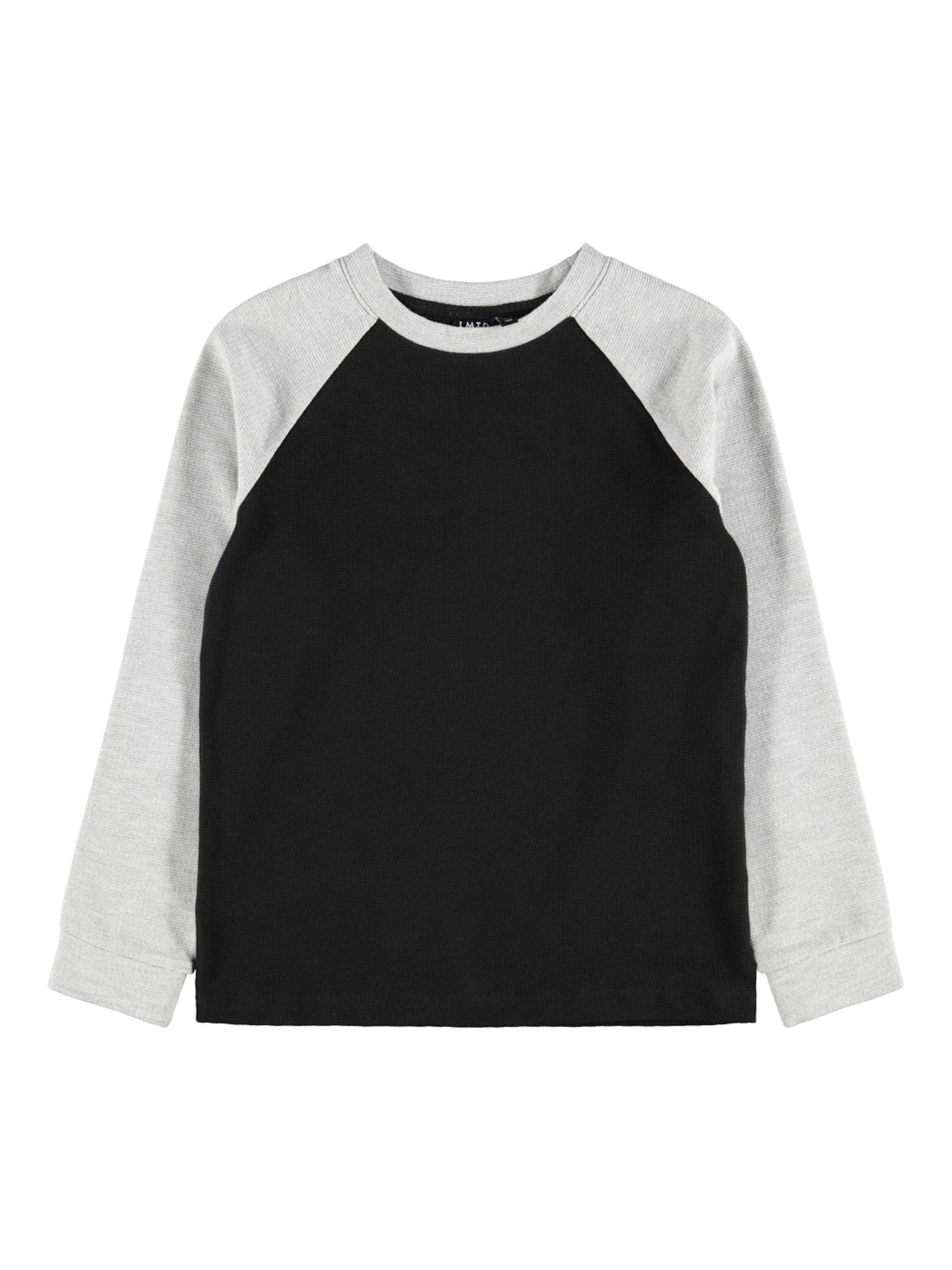 LMTD Marškinėliai juoda / šviesiai pilka