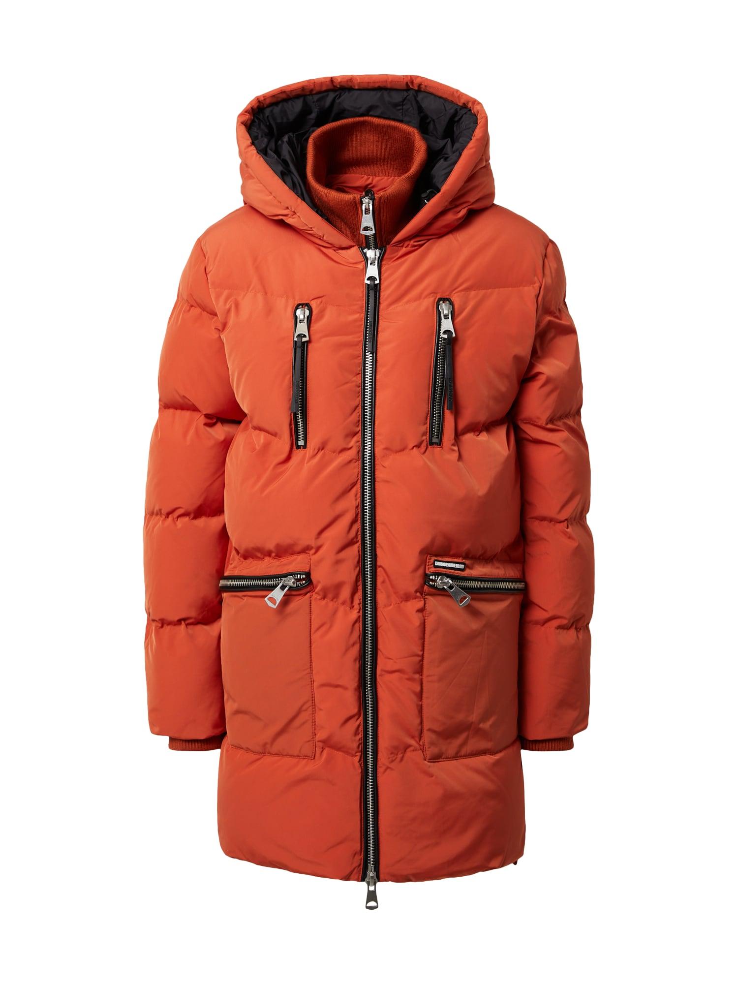 khujo Zimní bunda 'Sofia'  oranžová