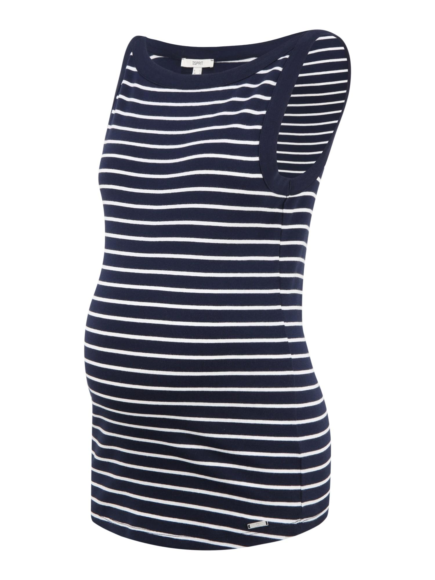 Esprit Maternity Marškinėliai mėlyna / balta
