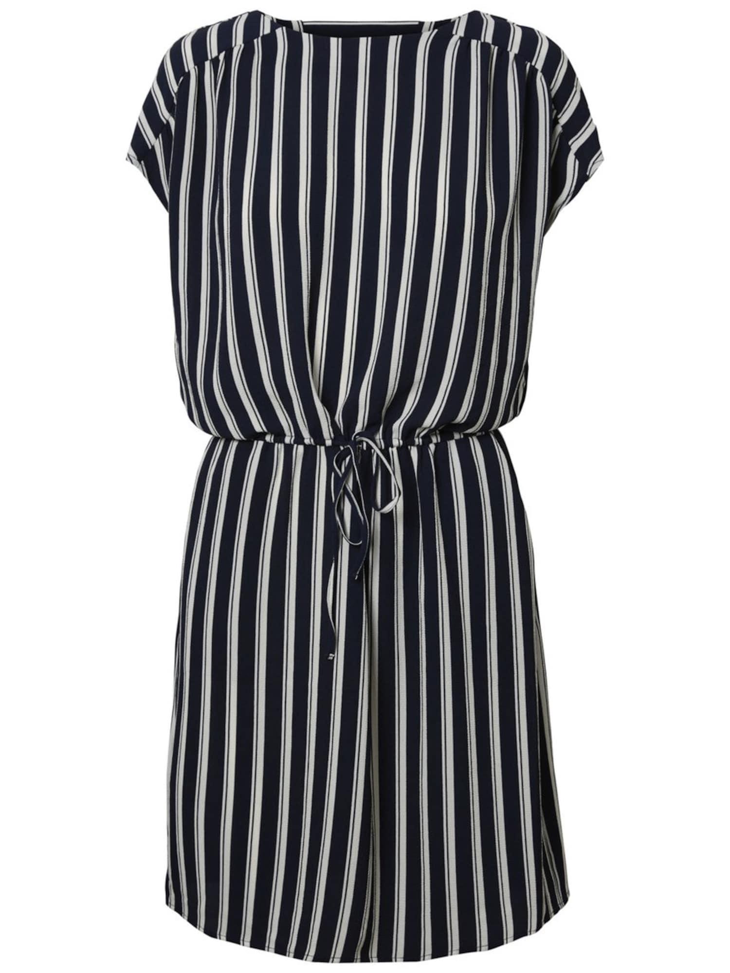 VERO MODA Letní šaty  námořnická modř / bílá