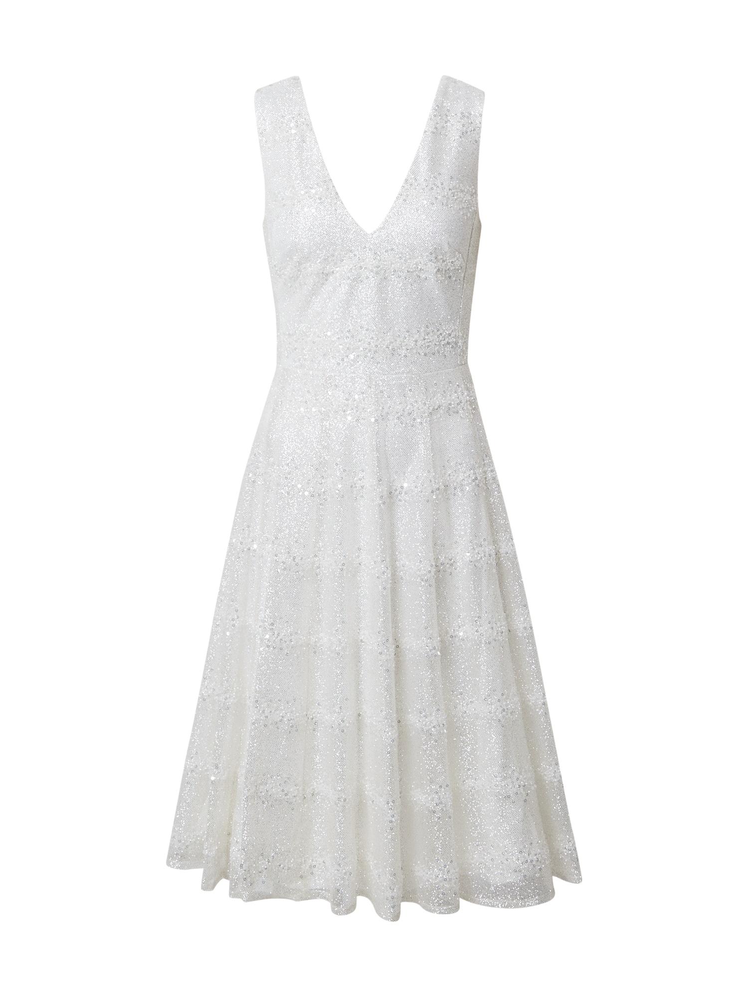STAR NIGHT Kokteilinė suknelė balkšva / sidabrinė