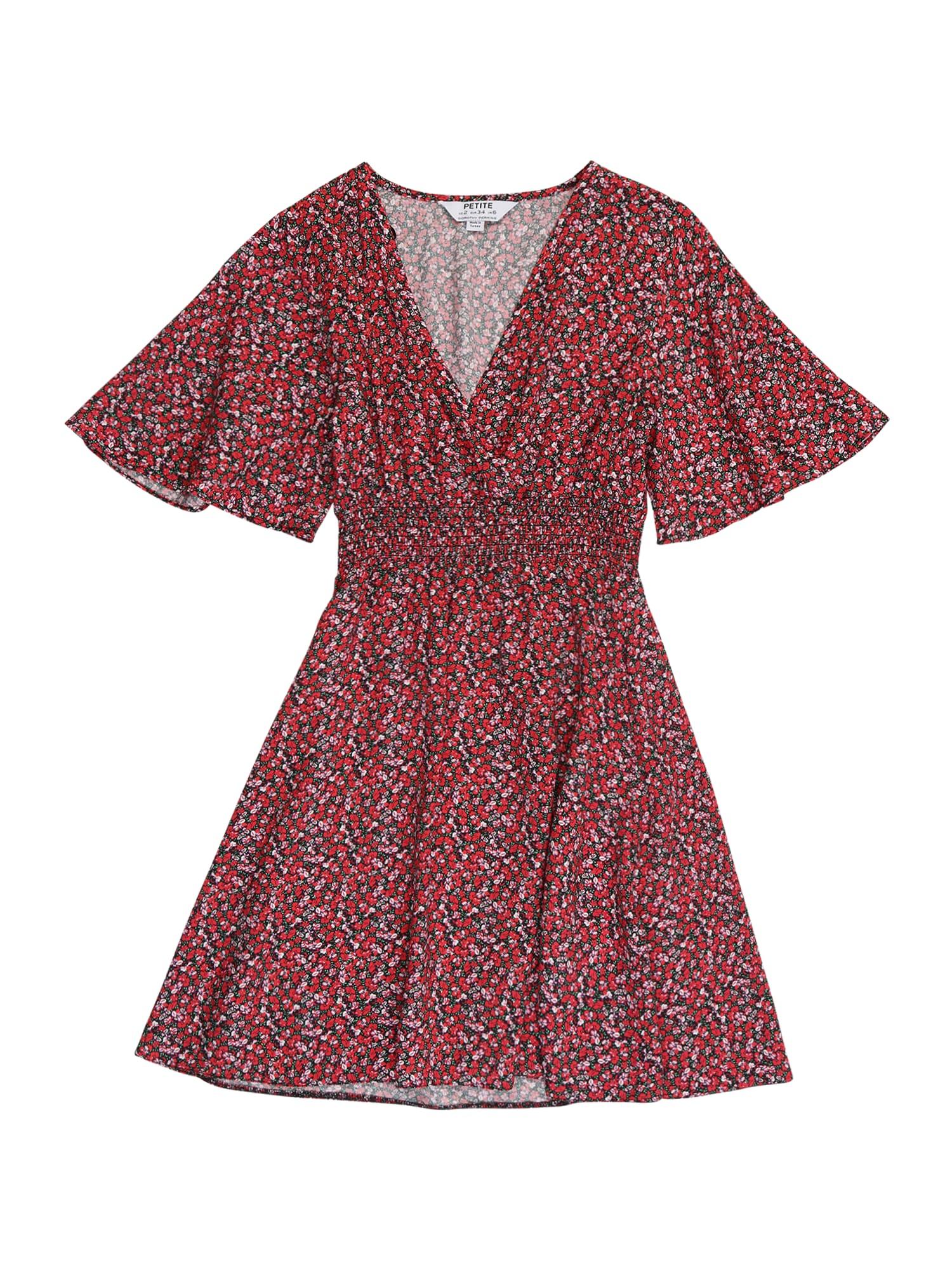 Dorothy Perkins (Petite) Vasarinė suknelė raudona / žalia / balta