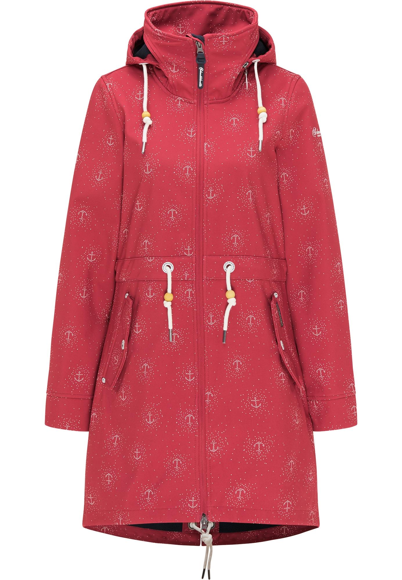 Schmuddelwedda Striukė-paltas balta / pastelinė raudona