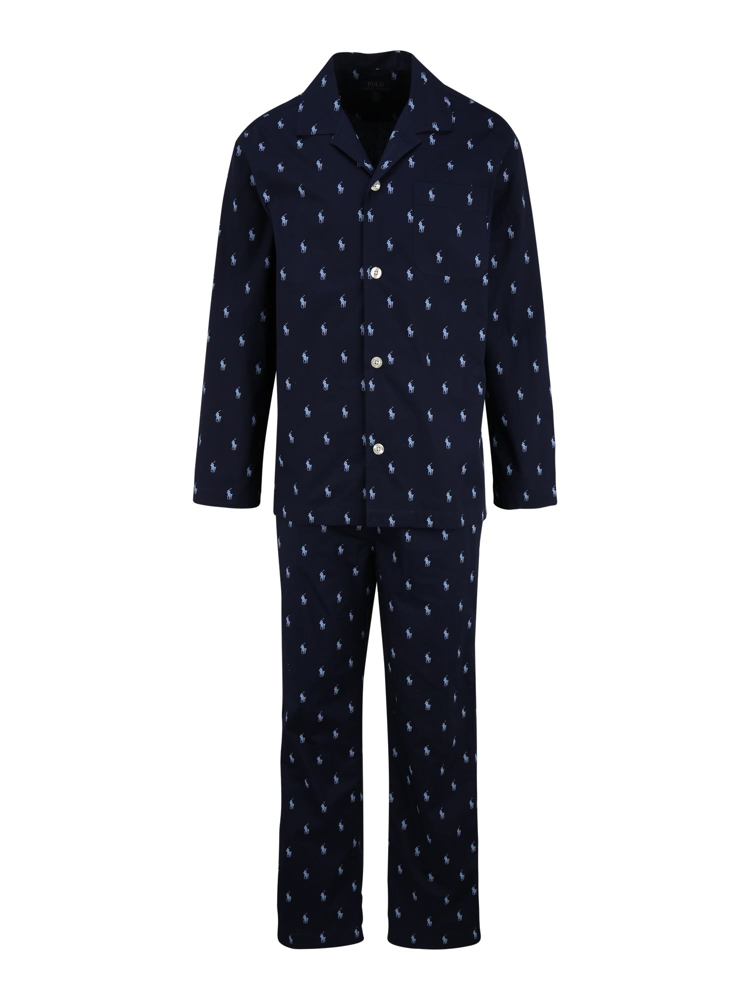 POLO RALPH LAUREN Ilga pižama mėlyna / nakties mėlyna
