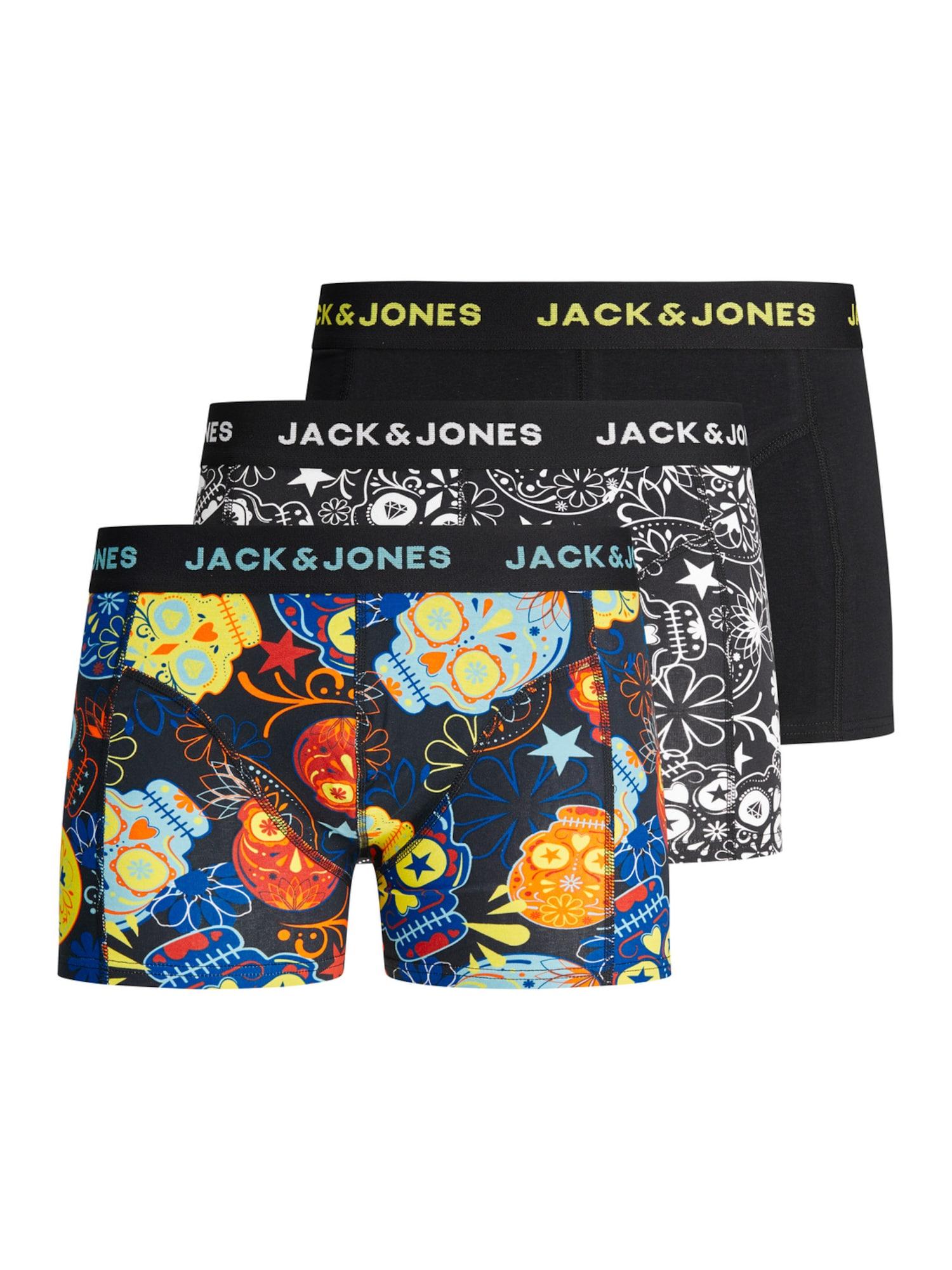 Jack & Jones Junior Apatinės kelnaitės 'Sugar' juoda / balta / nakties mėlyna / mišrios spalvos