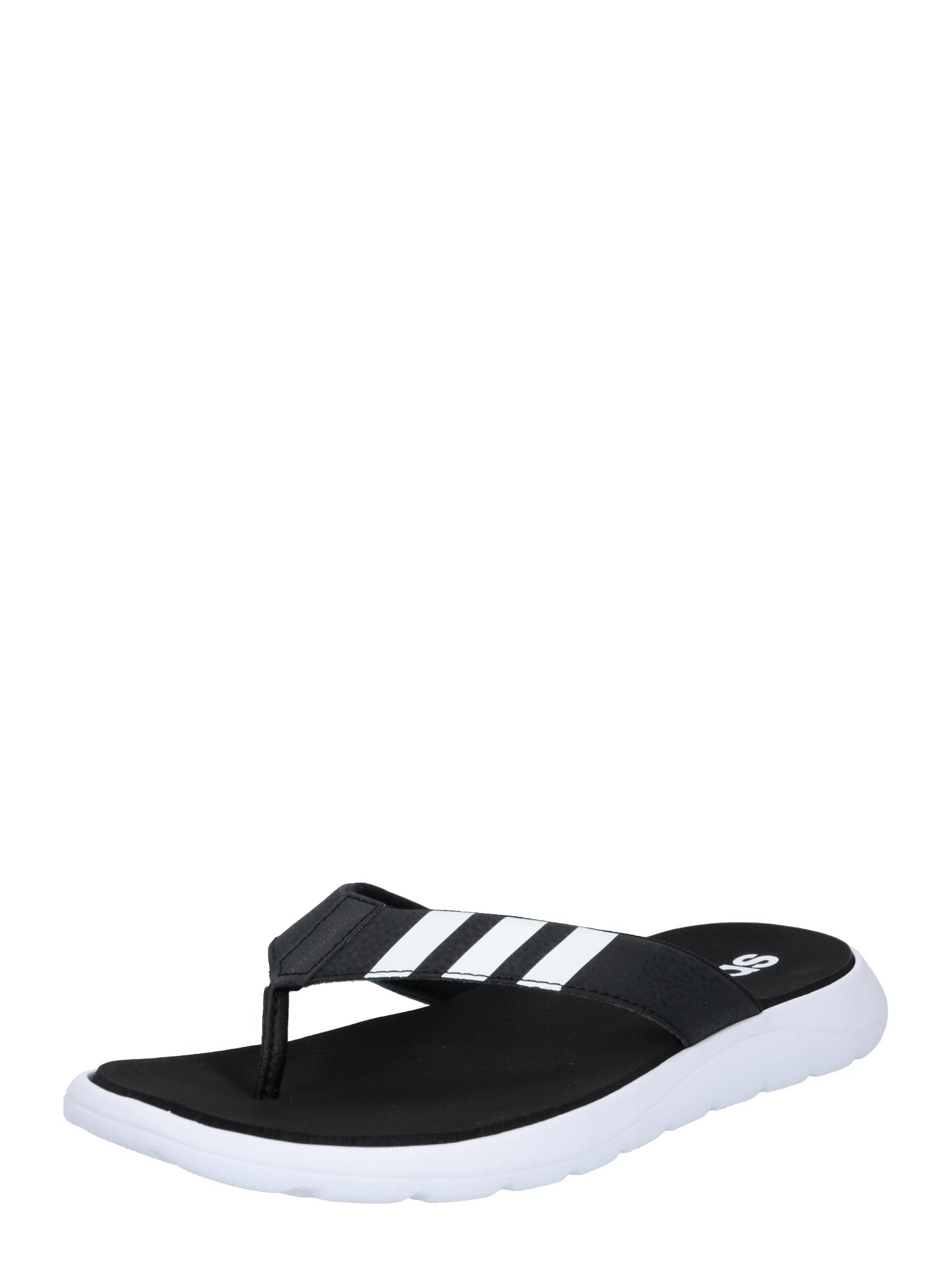 ADIDAS PERFORMANCE Sandalai / maudymosi batai juoda / balta