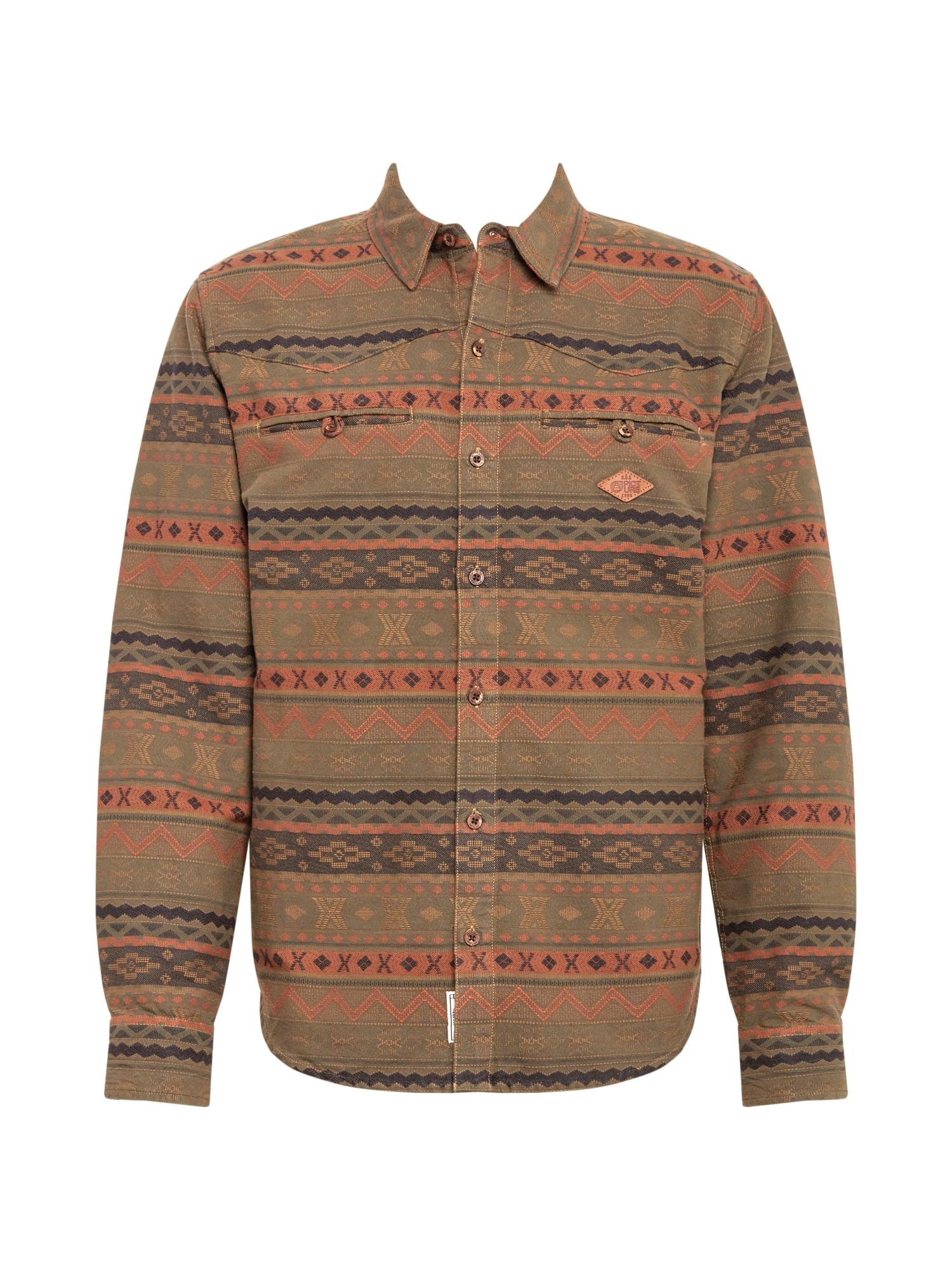Picture Organic Clothing Funkciniai marškiniai 'TUCSON' mišrios spalvos / mėlyna / alyvuogių spalva
