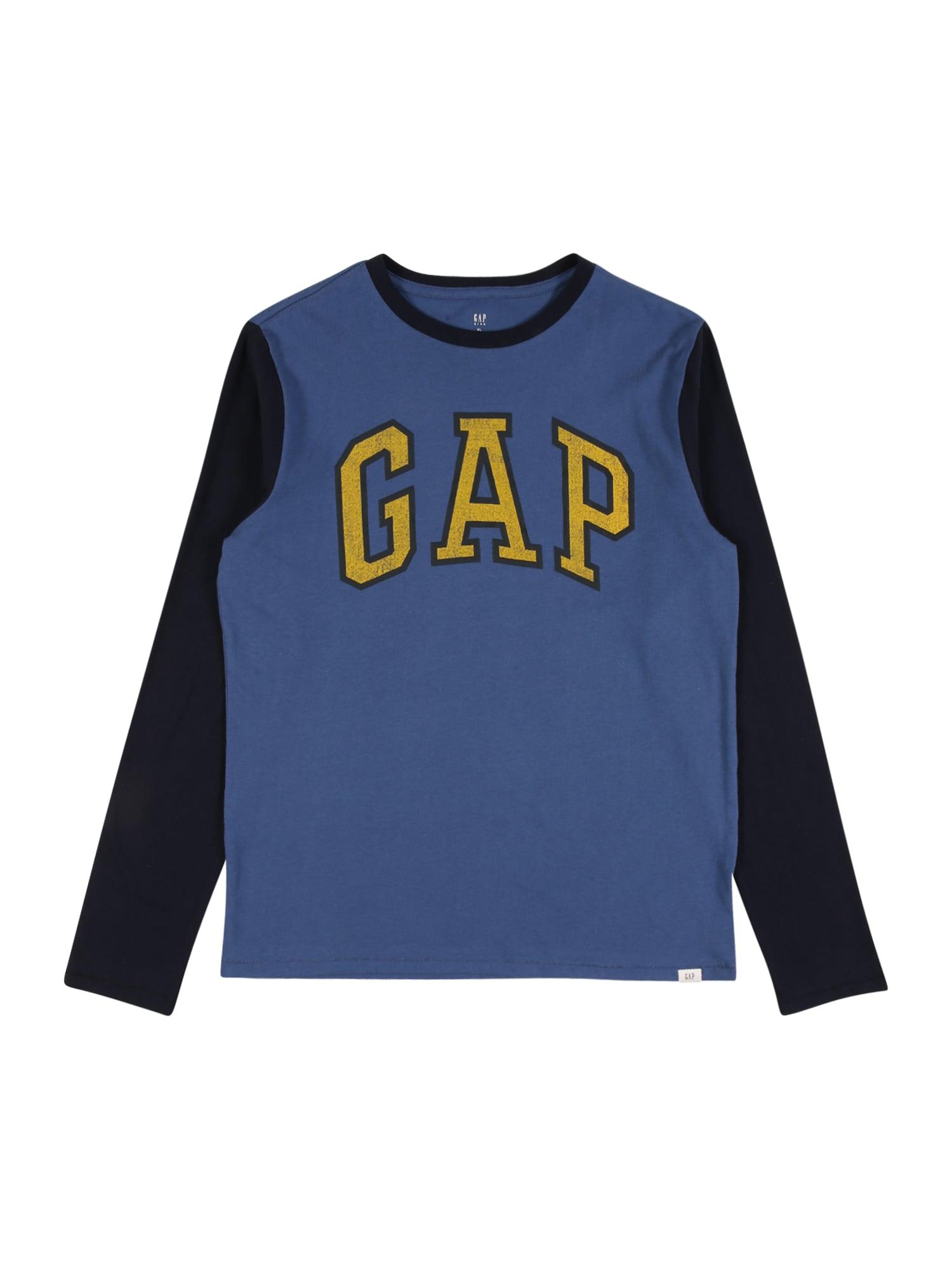 GAP Marškinėliai šviesiai mėlyna / tamsiai mėlyna / aukso geltonumo spalva