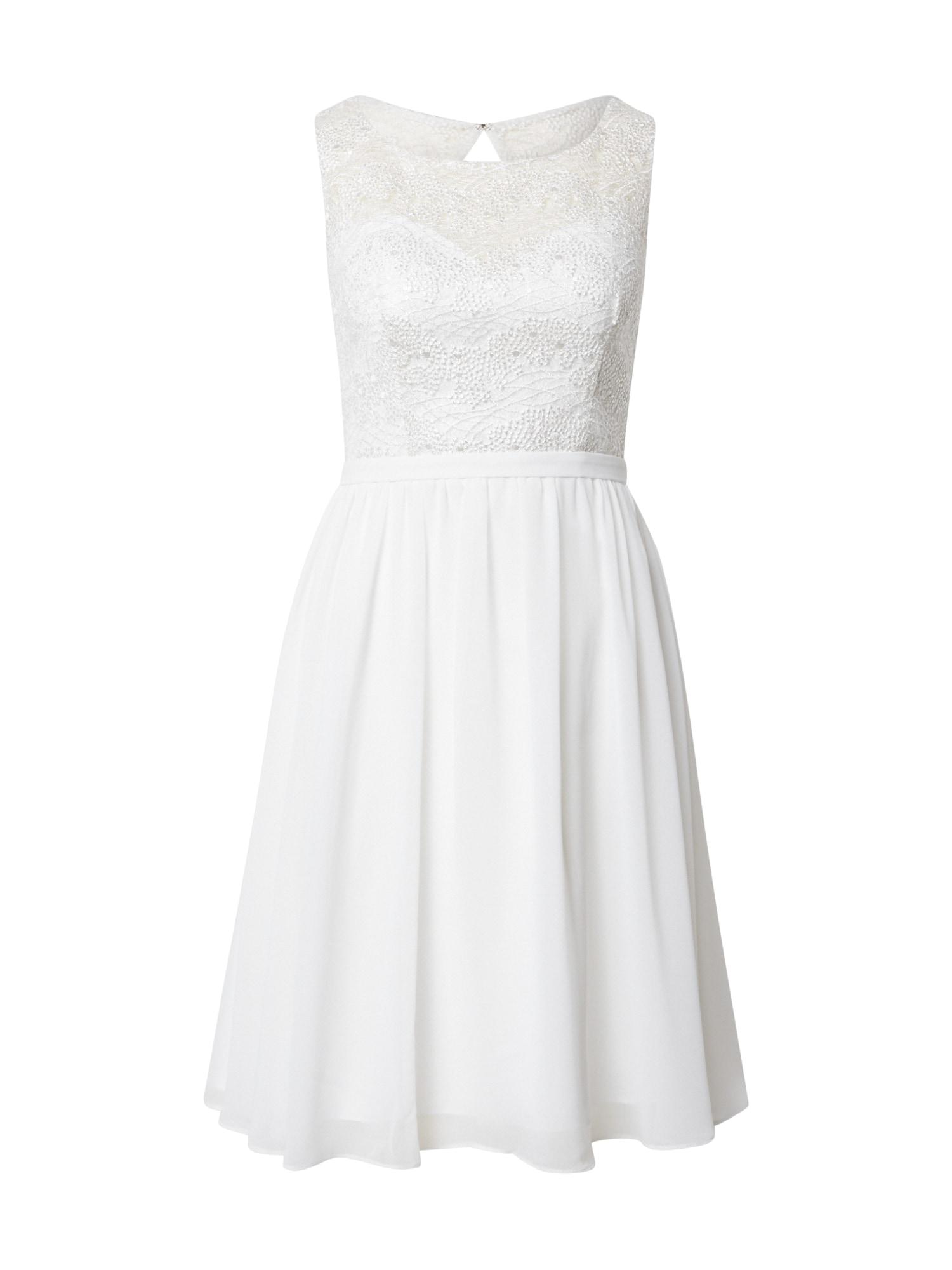 mascara Kokteilinė suknelė balta