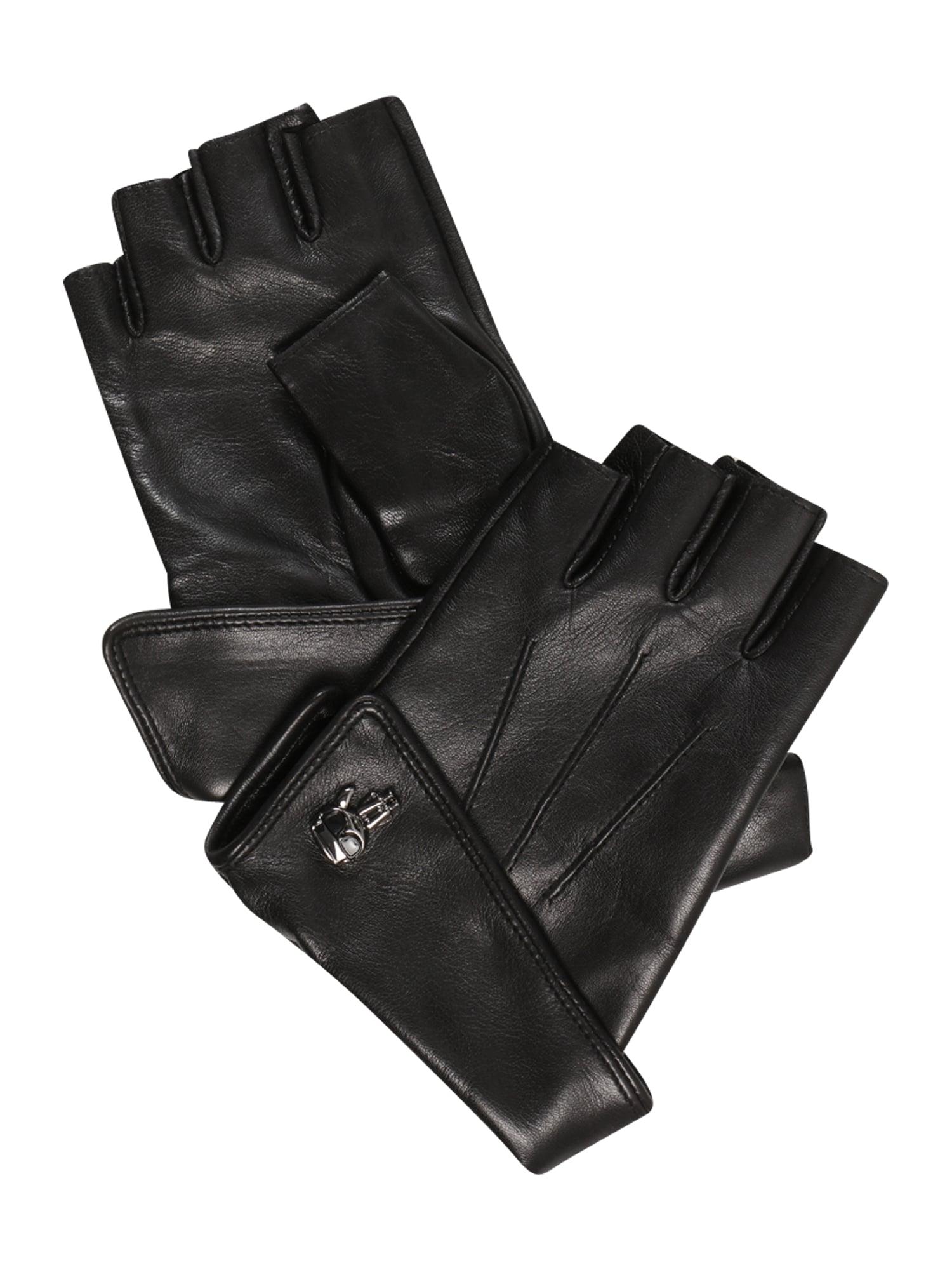 Karl Lagerfeld Trumpos pirštinės be pirštų galų juoda