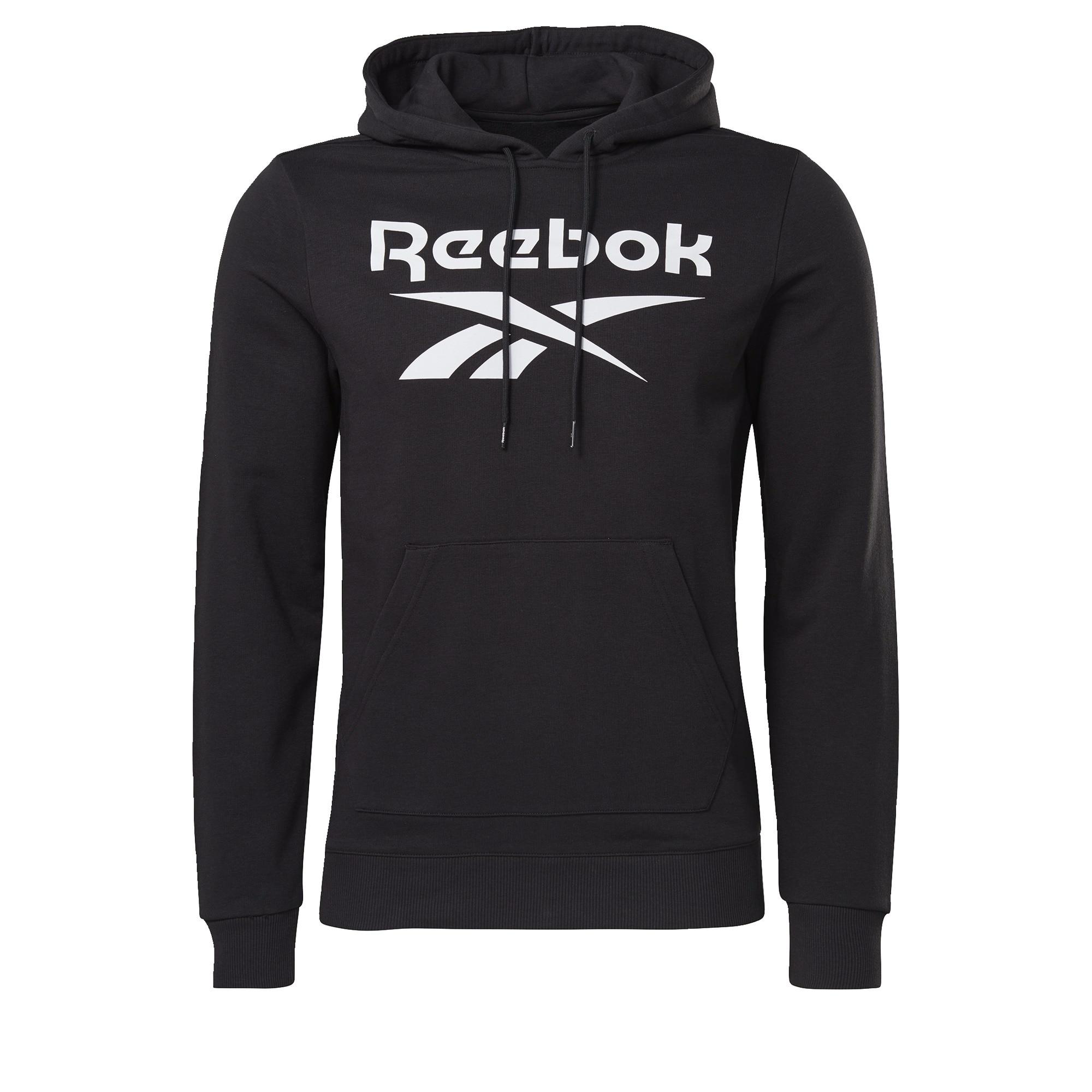 Reebok Classic Sportinio tipo megztinis juoda / balta