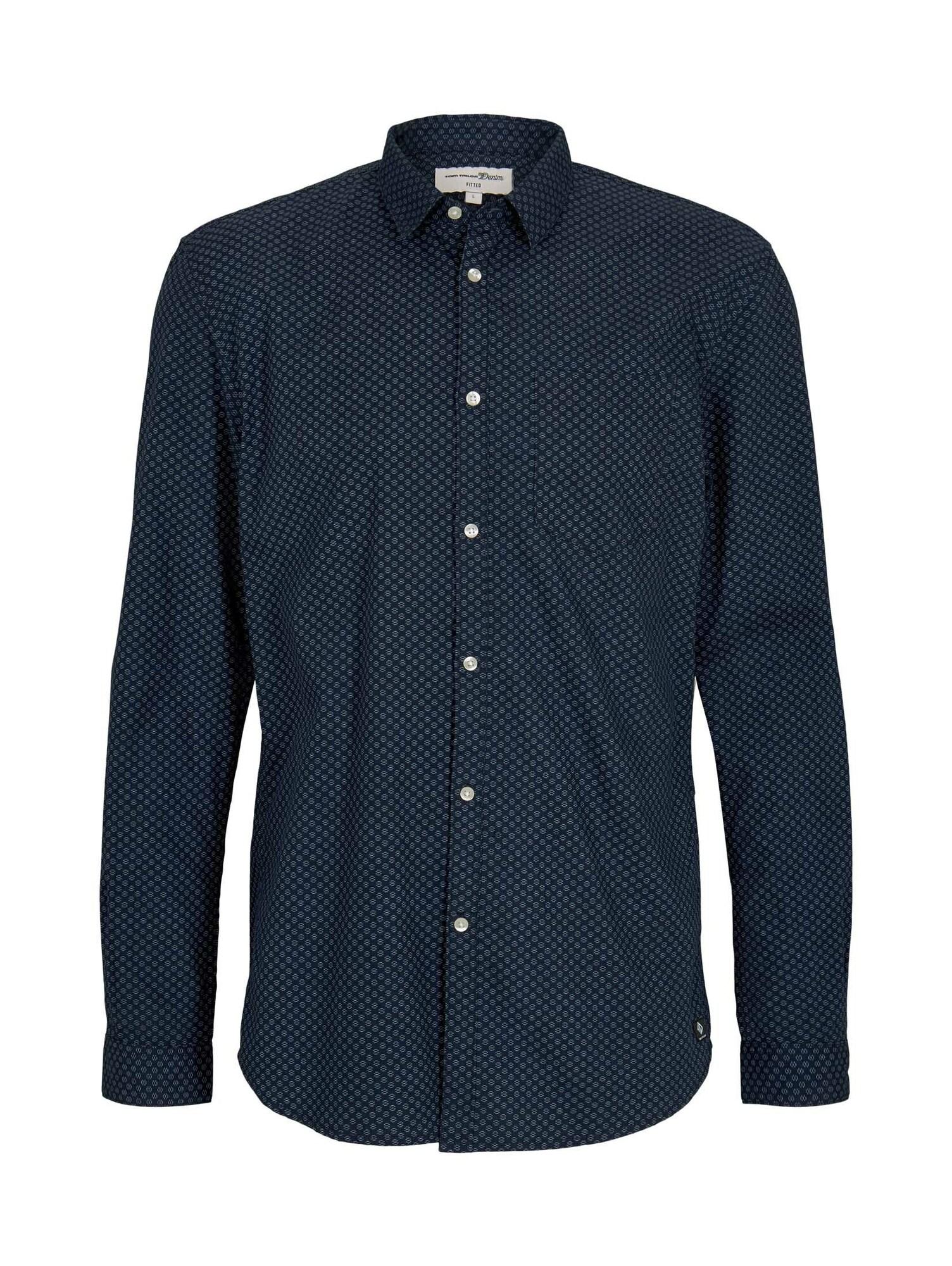 TOM TAILOR DENIM Košile  tmavě modrá / chladná modrá