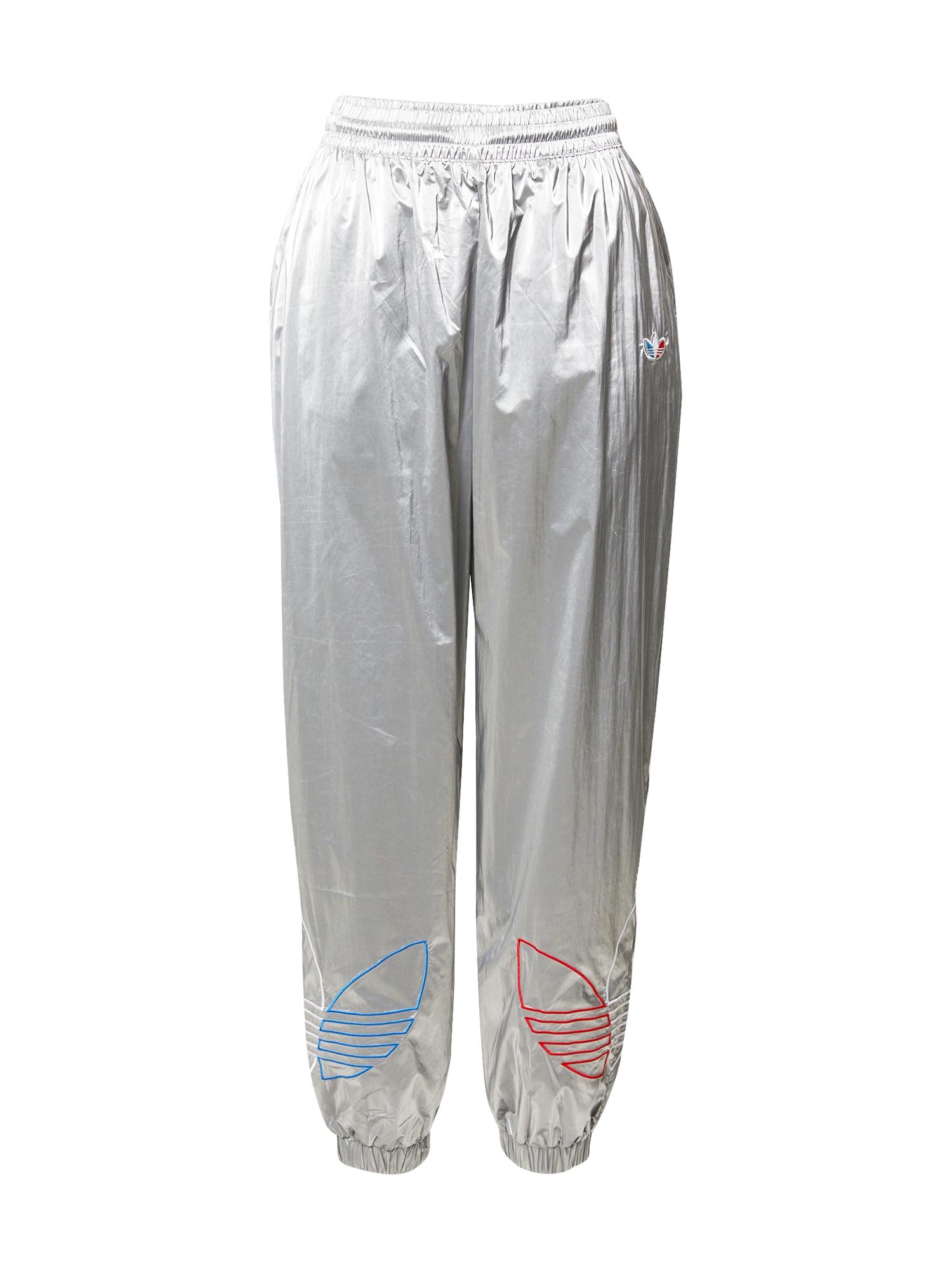 ADIDAS ORIGINALS Kelnės 'Japona' sidabrinė / balta / šviesiai raudona / mėlyna
