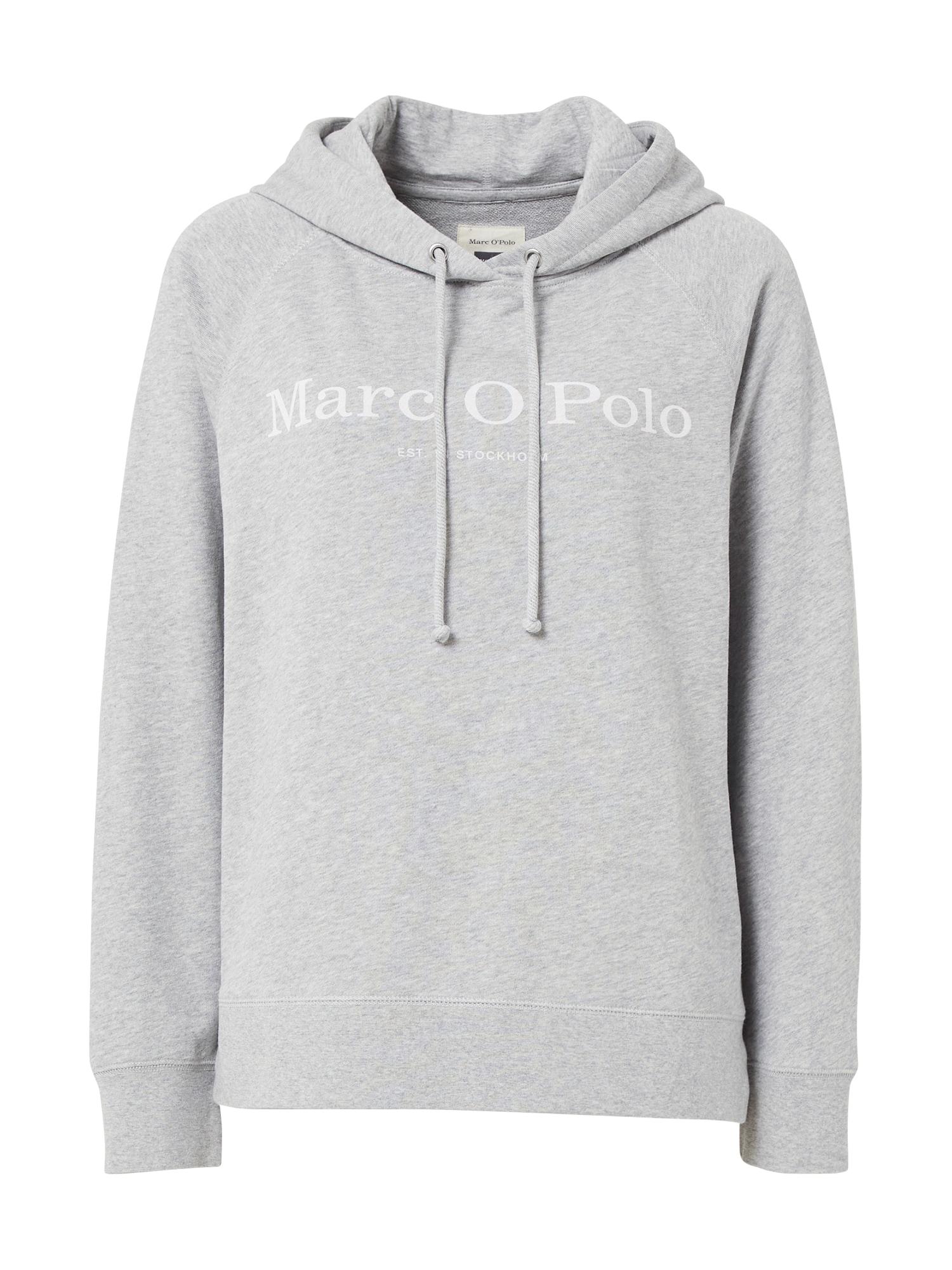 Marc O'Polo Megztinis be užsegimo margai pilka / balta