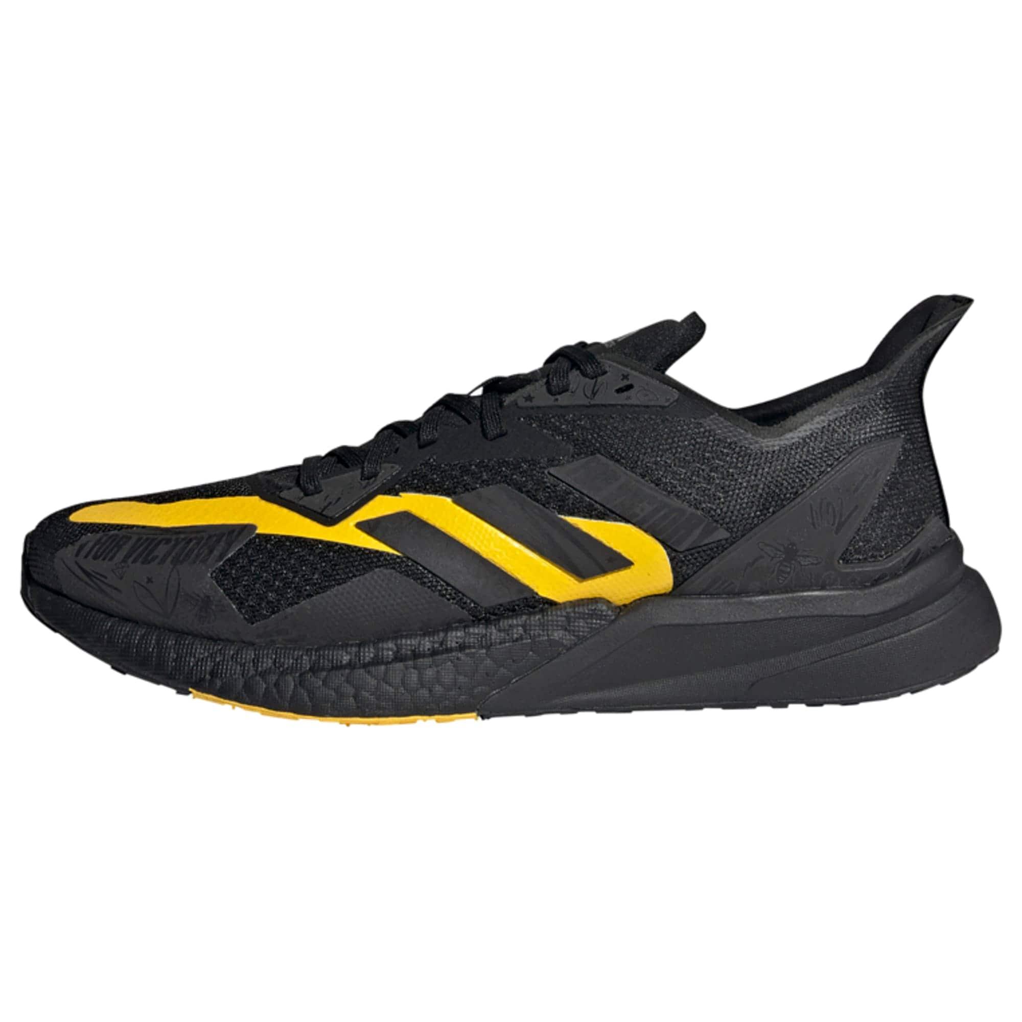 ADIDAS PERFORMANCE Bėgimo batai juoda / tamsiai geltona
