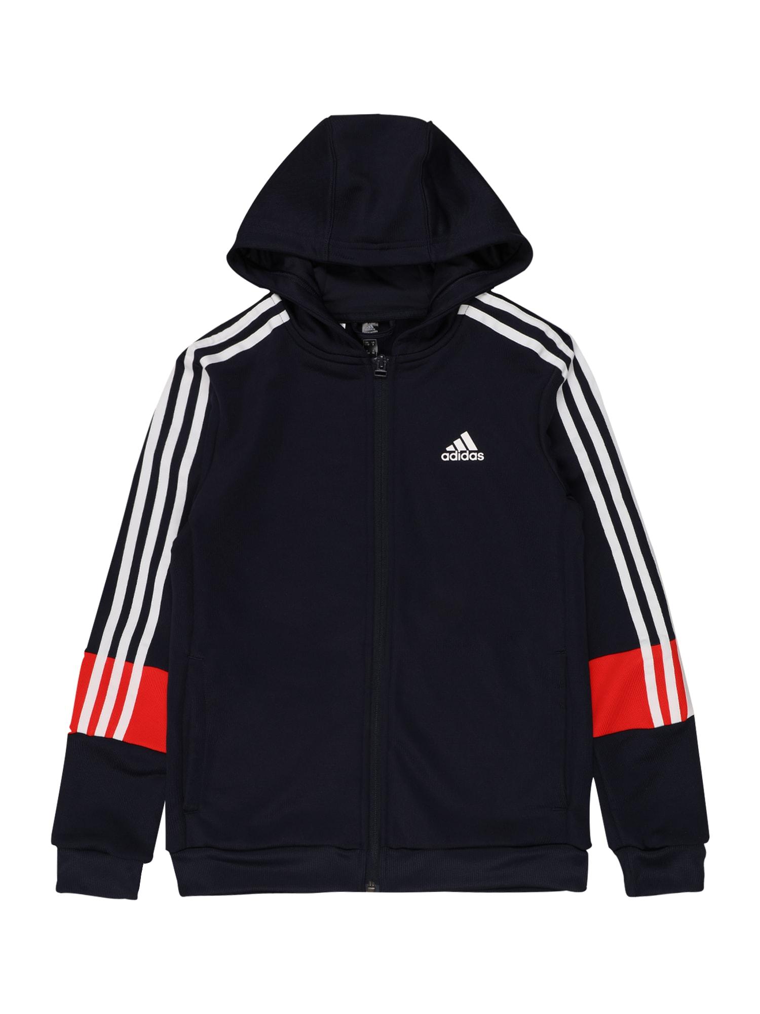 ADIDAS PERFORMANCE Sportinis džemperis tamsiai mėlyna jūros spalva / balta / oranžinė-raudona