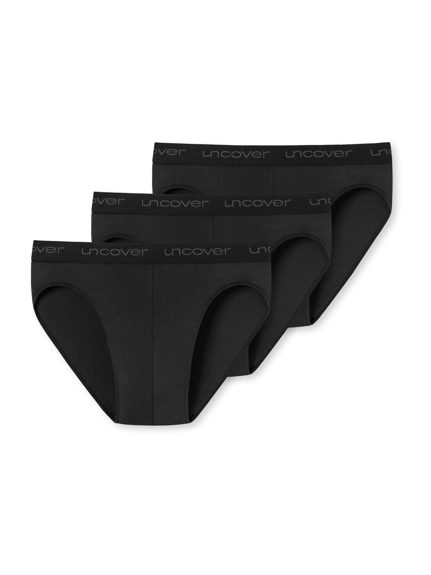 SCHIESSER Slipy '3er-Pack Uncover'  černá