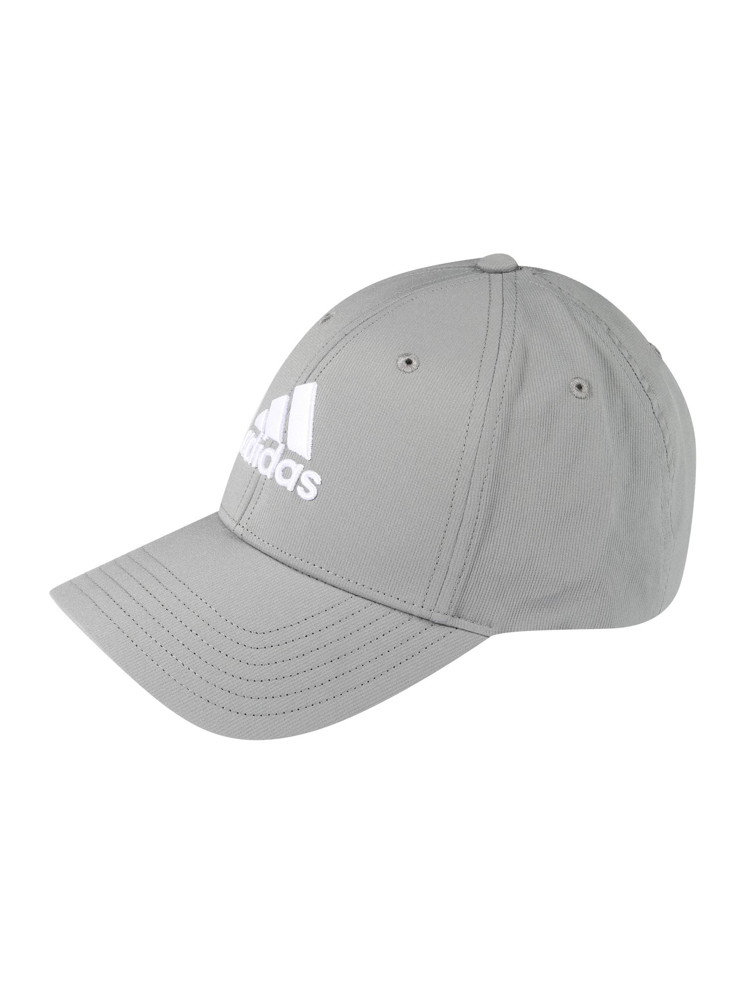adidas Golf Sportinė kepurė pilka / balta