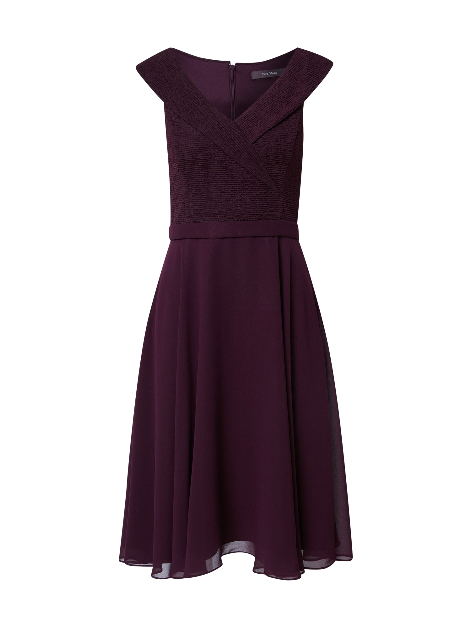 Vera Mont Kokteilinė suknelė baklažano spalva